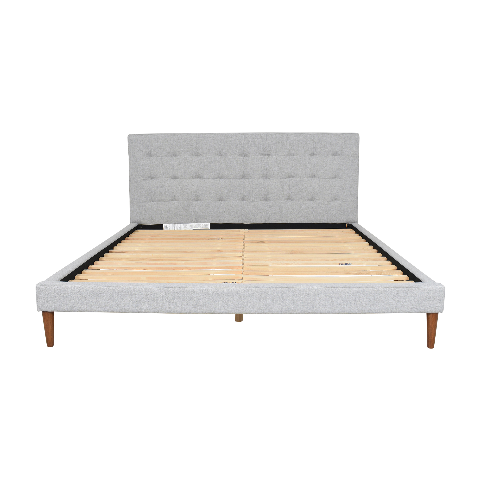 West Elm West Elm Grid Tufted Upholstered Tapered Leg King Bed Beds
