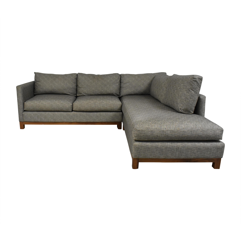 Burton James Burton James Custom Chaise Sectional Sofa for sale