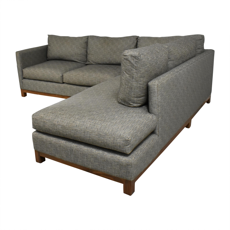 Burton James Burton James Custom Chaise Sectional Sofa dimensions