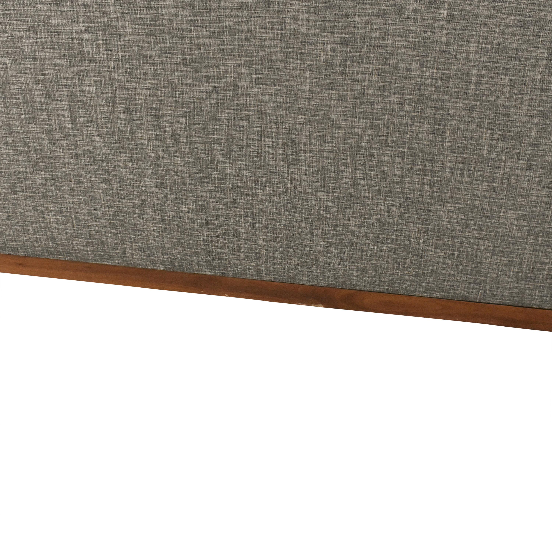 Burton James Burton James Custom Chaise Sectional Sofa grey