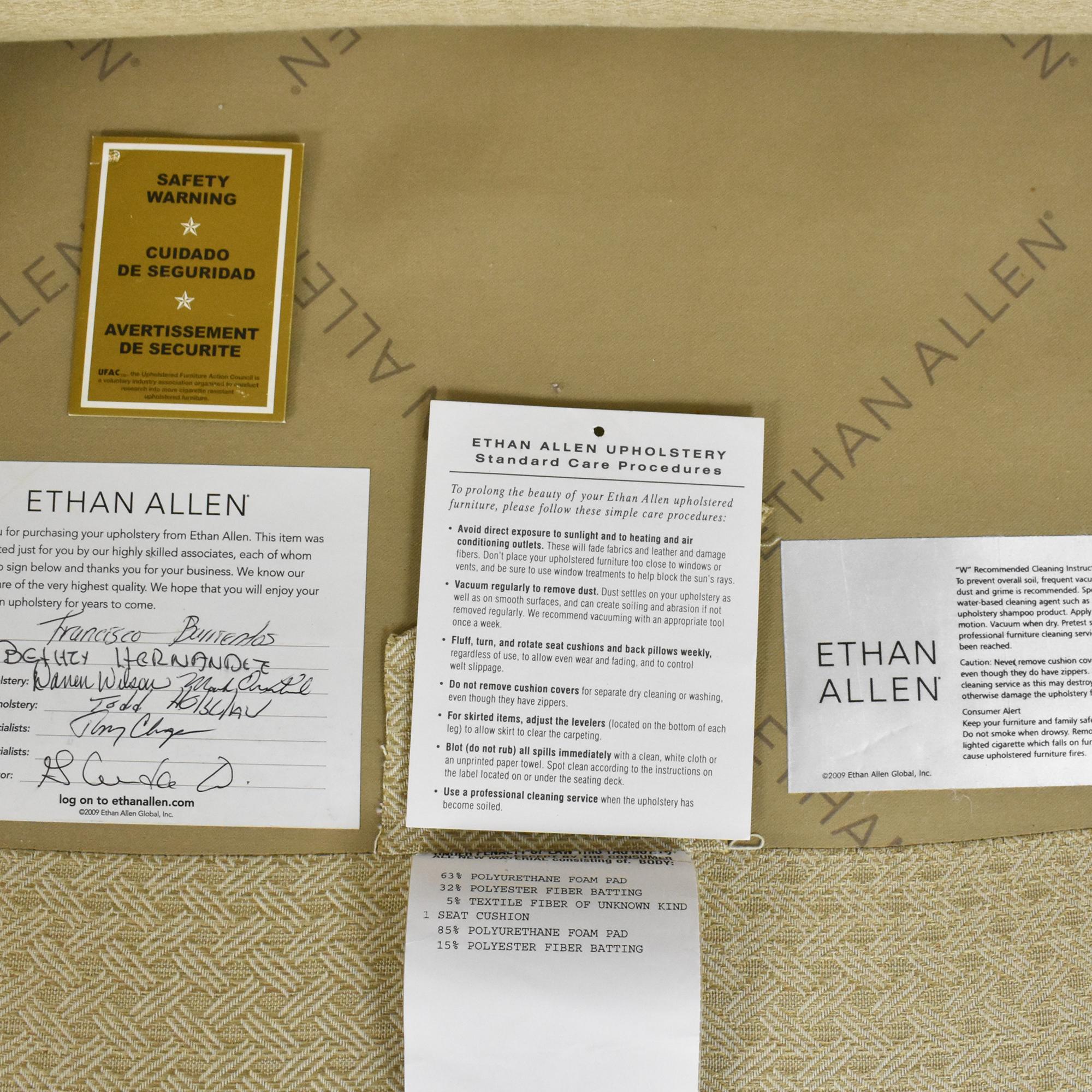 Ethan Allen Ethan Allen Mercer Tufted Chair with Ottoman