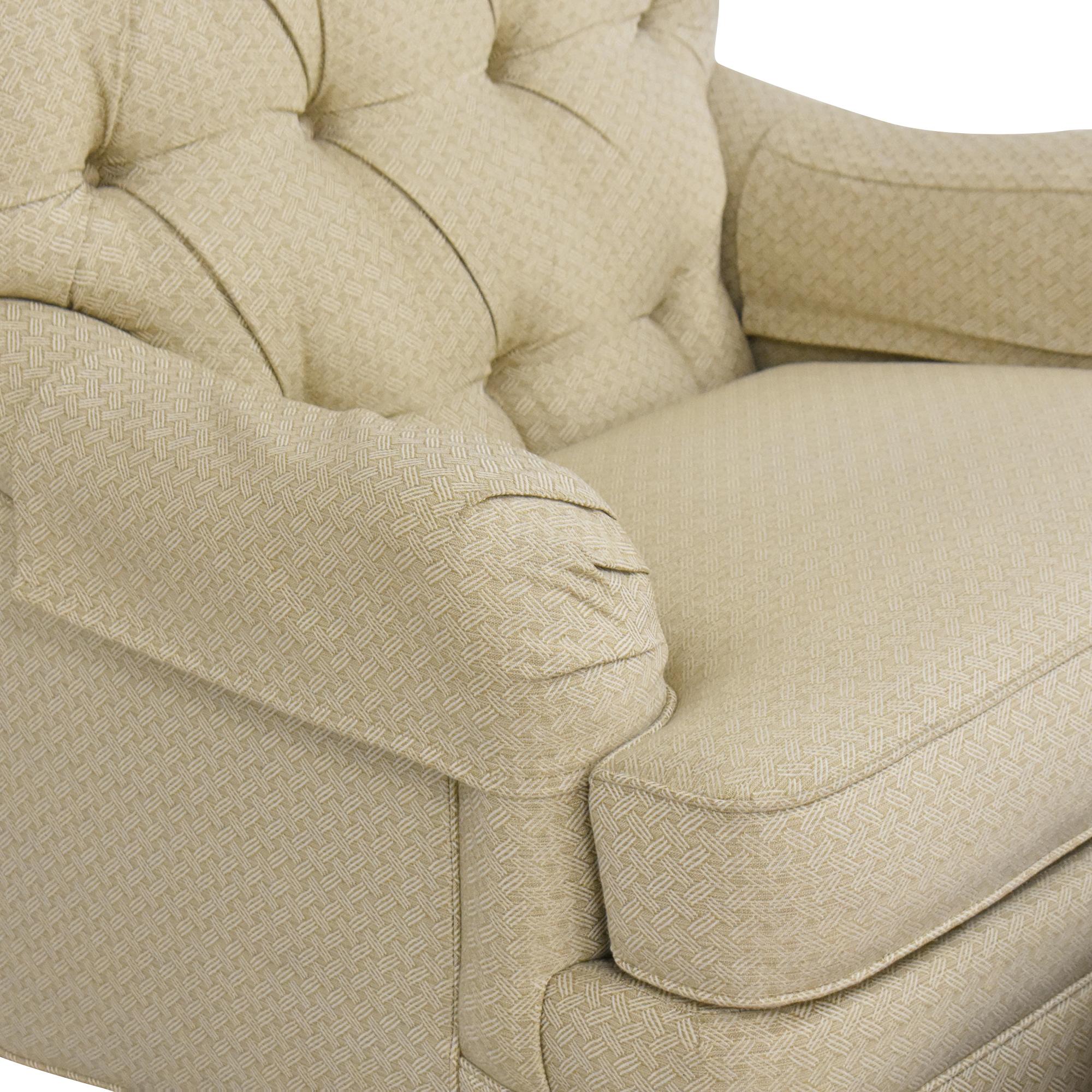 buy Ethan Allen Ethan Allen Mercer Tufted Chair with Ottoman online