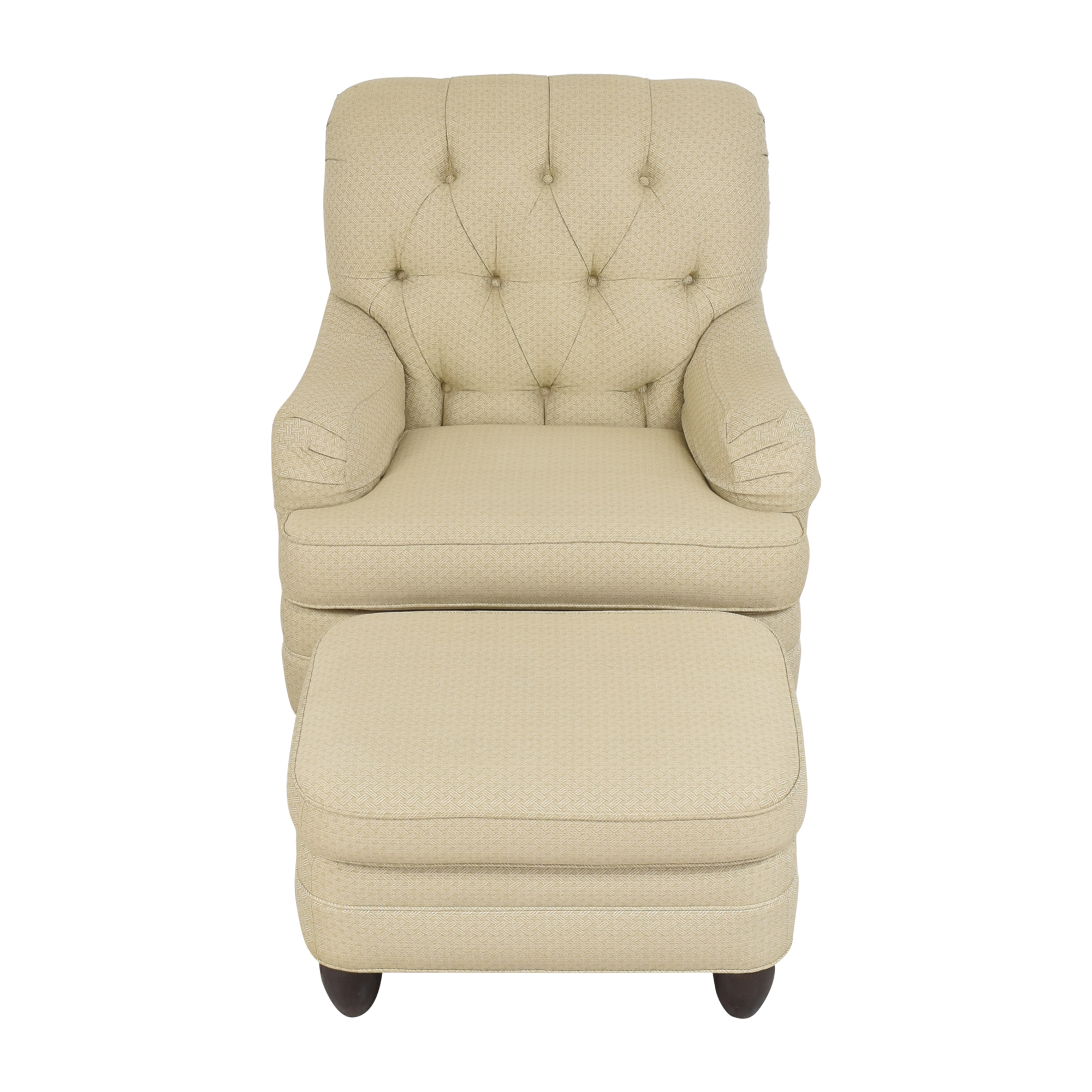 Ethan Allen Ethan Allen Mercer Tufted Chair with Ottoman used