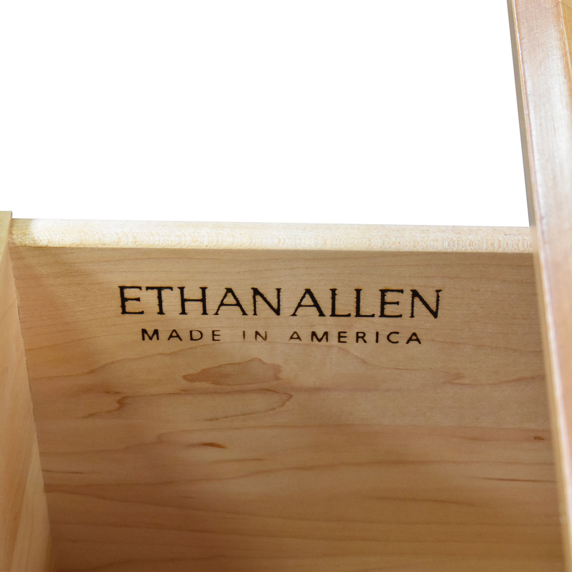 Ethan Allen Ethan Allen Elements Map Two Drawer Coffee Table on sale