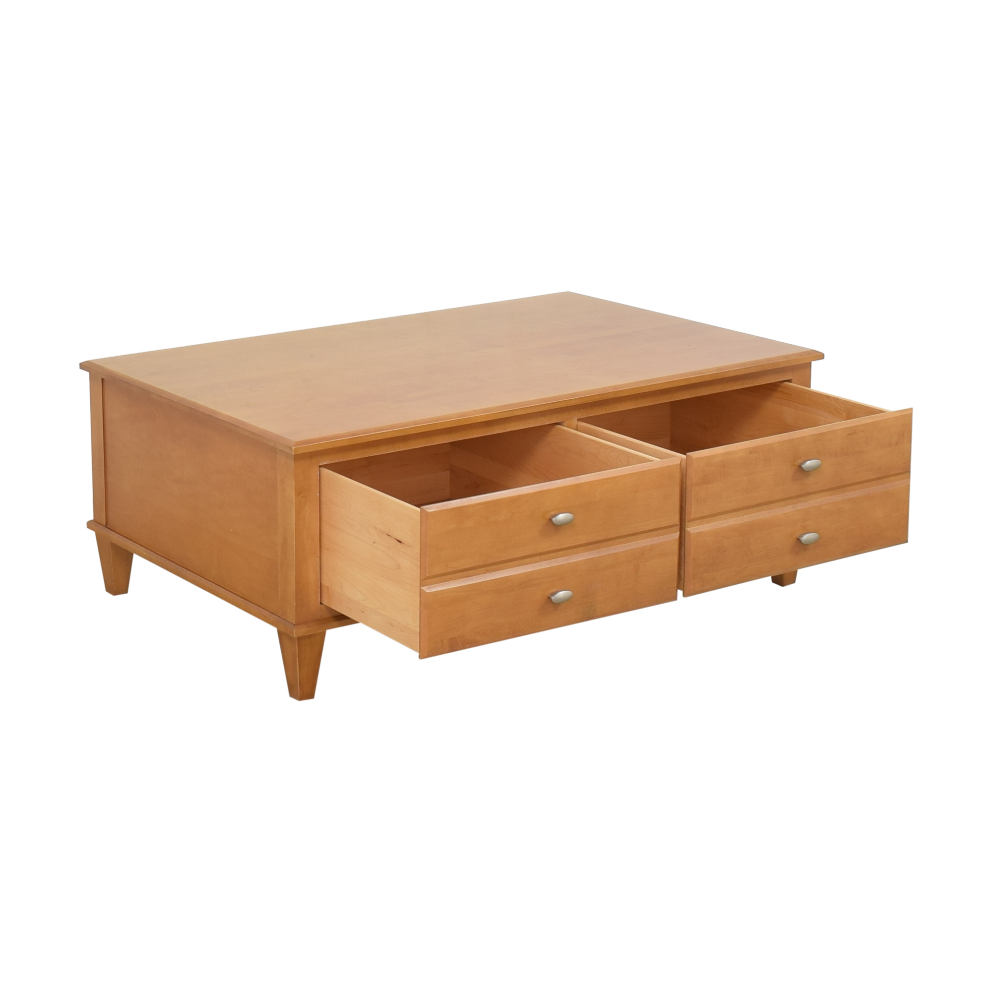 shop Ethan Allen Elements Map Two Drawer Coffee Table Ethan Allen Coffee Tables