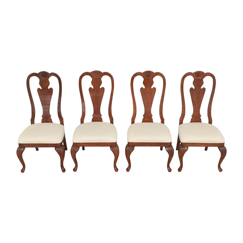 Hyundai Furniture Hyundai Furniture Queen Anne Dining Chairs dimensions