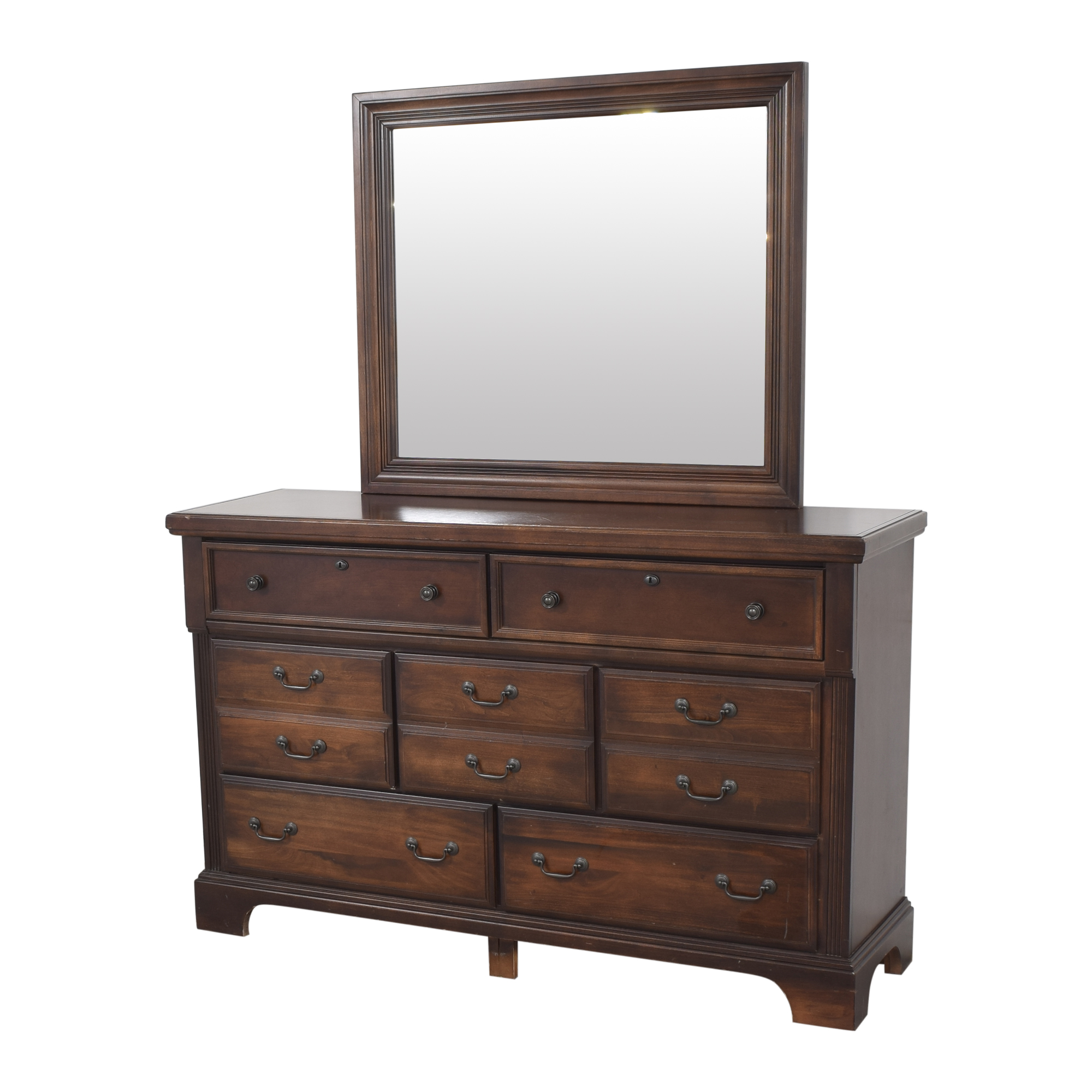 Vaughan-Bassett Vaughan-Bassett Triple Dresser with Mirror for sale