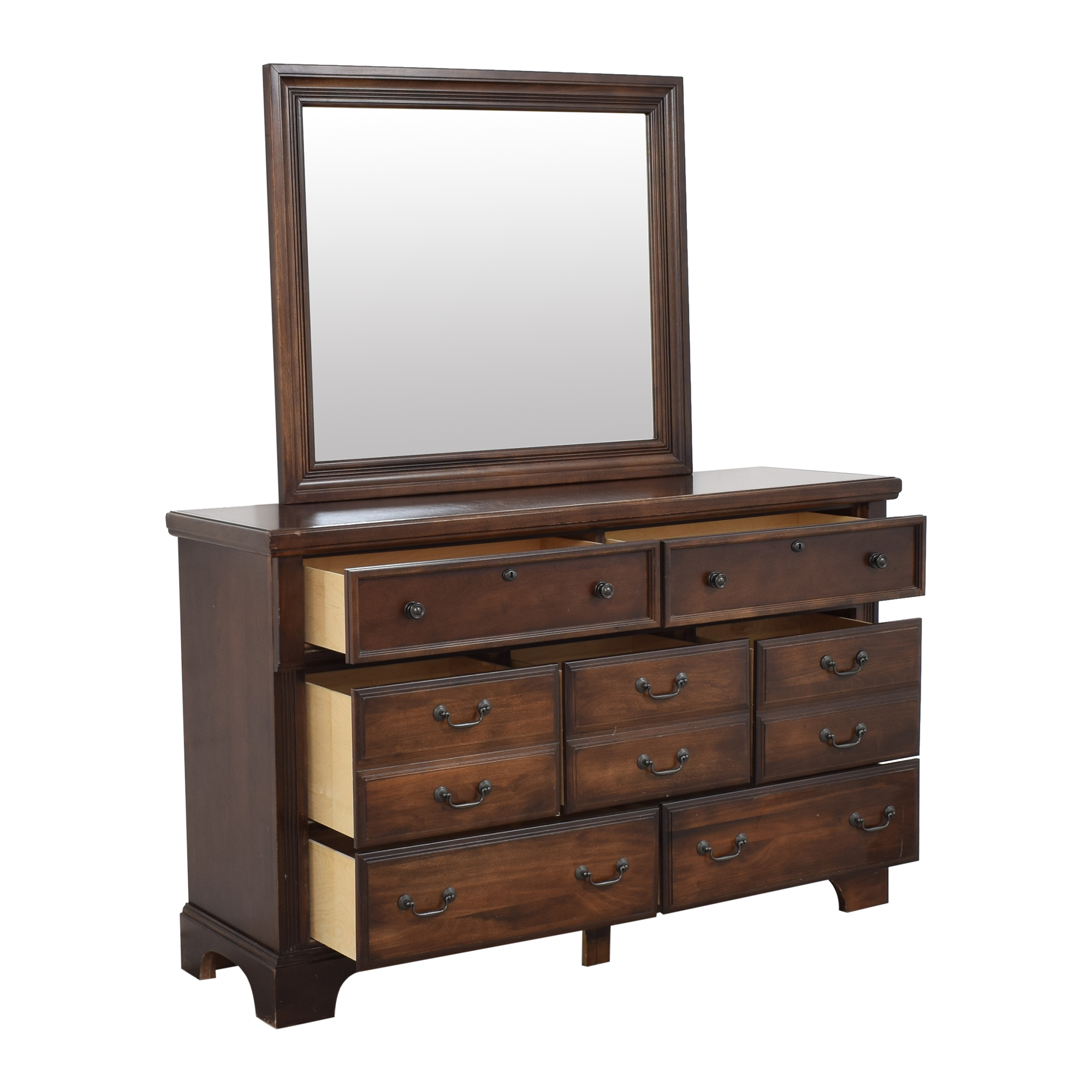 Vaughan-Bassett Vaughan-Bassett Triple Dresser with Mirror second hand