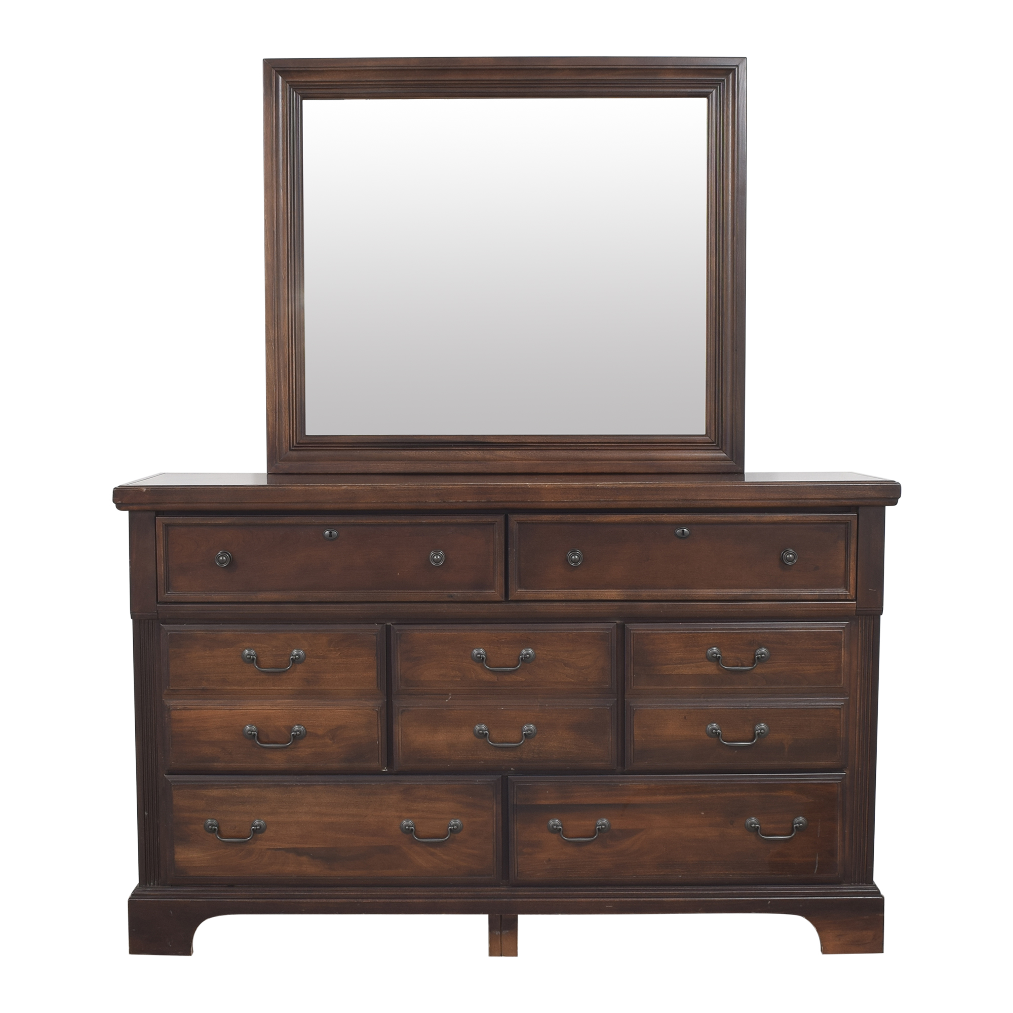 shop Vaughan-Bassett Triple Dresser with Mirror Vaughan-Bassett Dressers