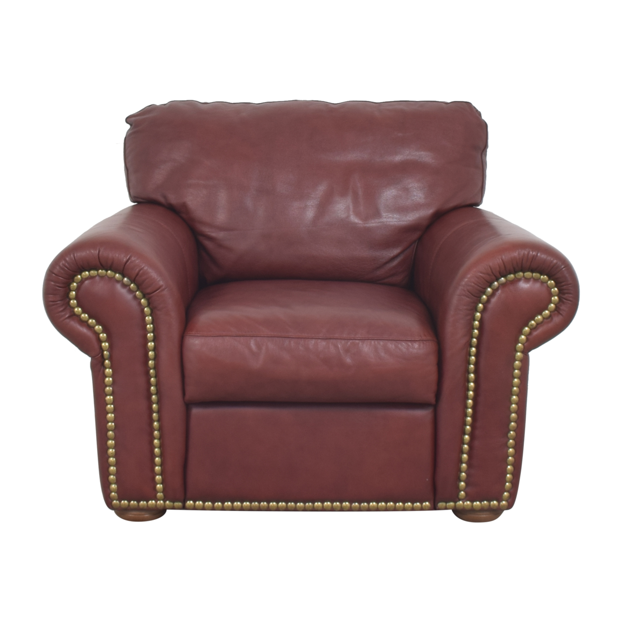Macy's Macy's Nailhead Roll Arm Chair discount