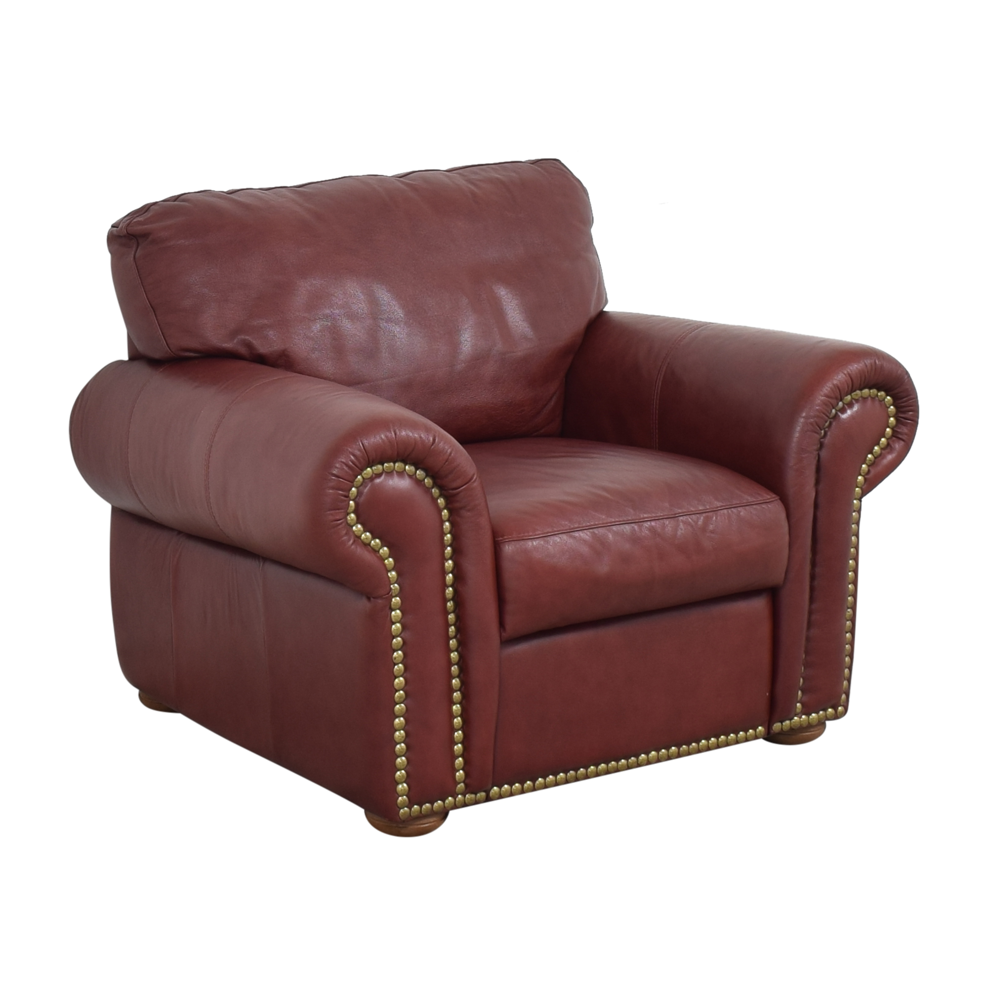buy Macy's Macy's Nailhead Roll Arm Chair online