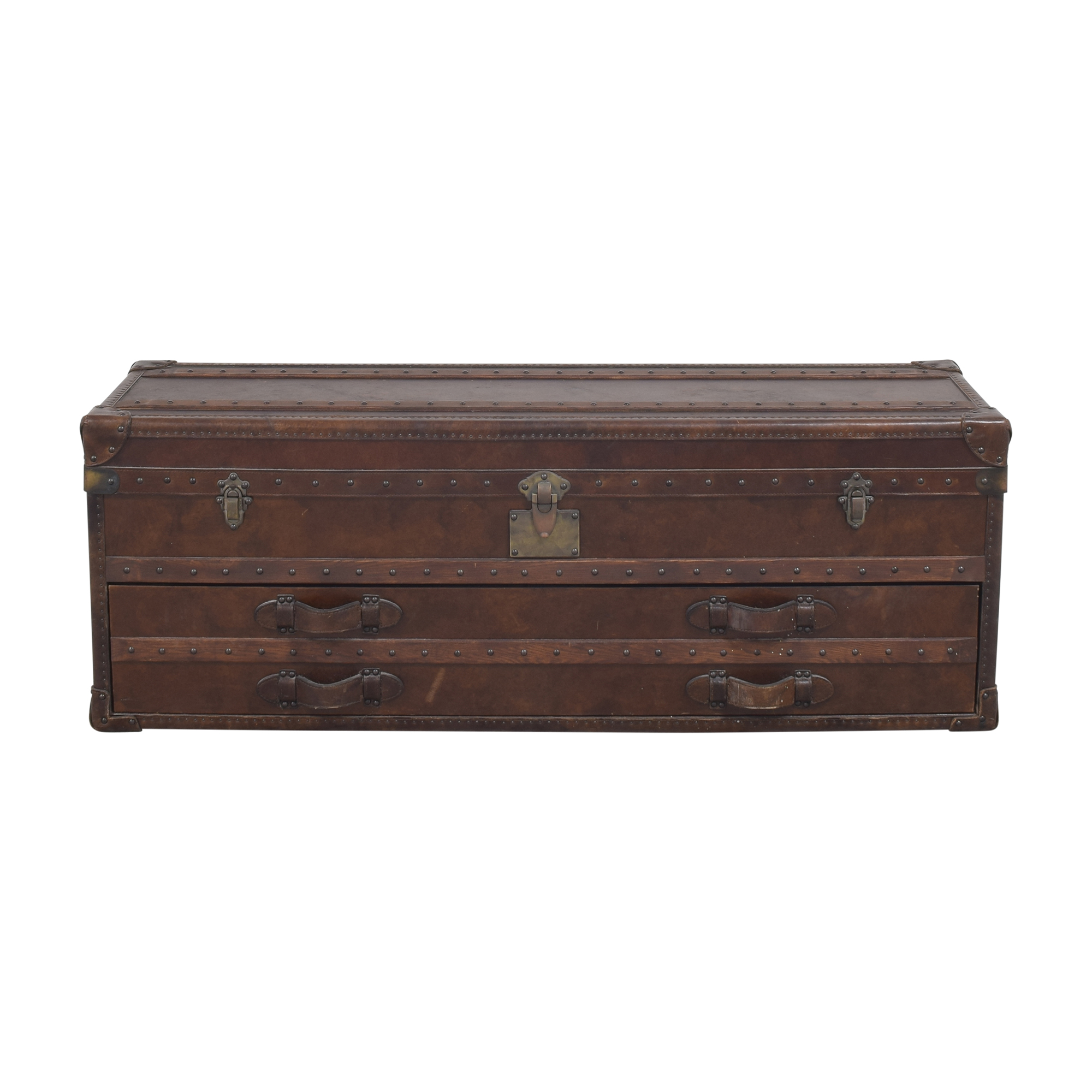Restoration Hardware Restoration Hardware Mayfair Steamer Trunk Low Chest dimensions