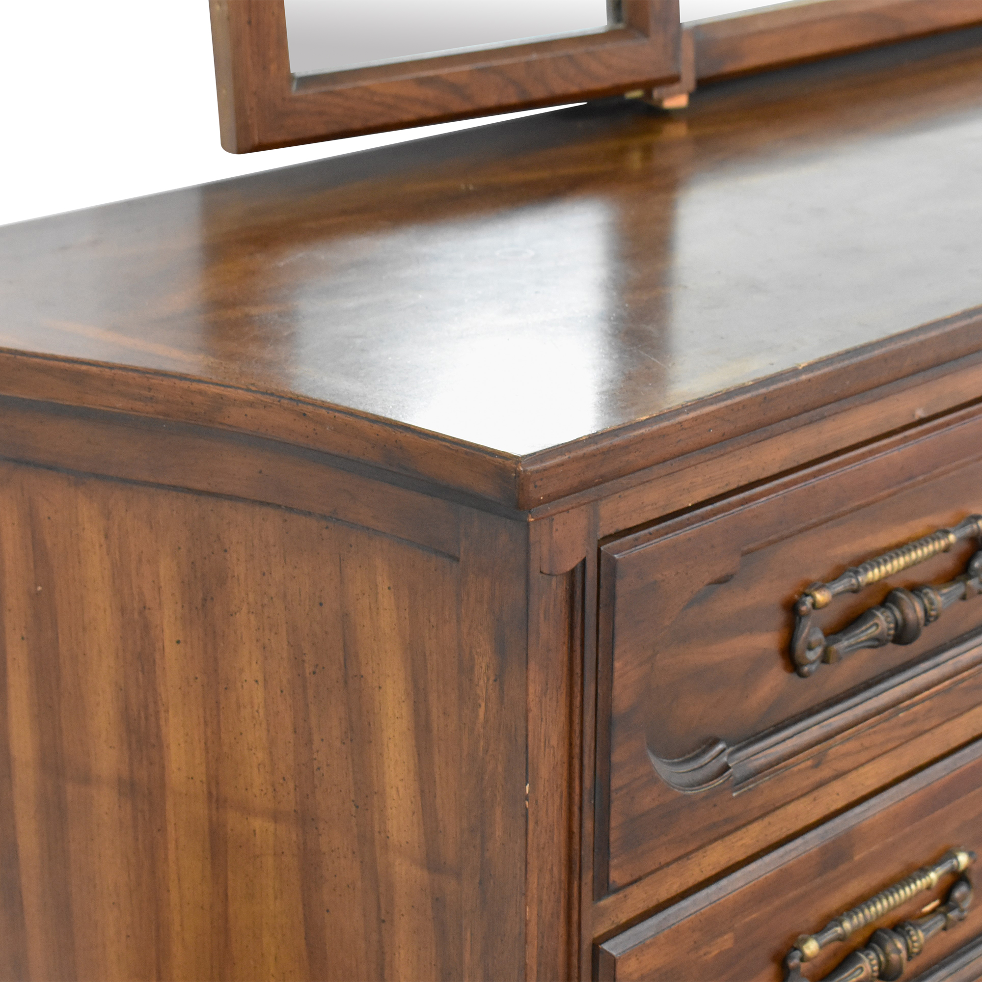 Vintage Triple Dresser with Trifold Mirror used