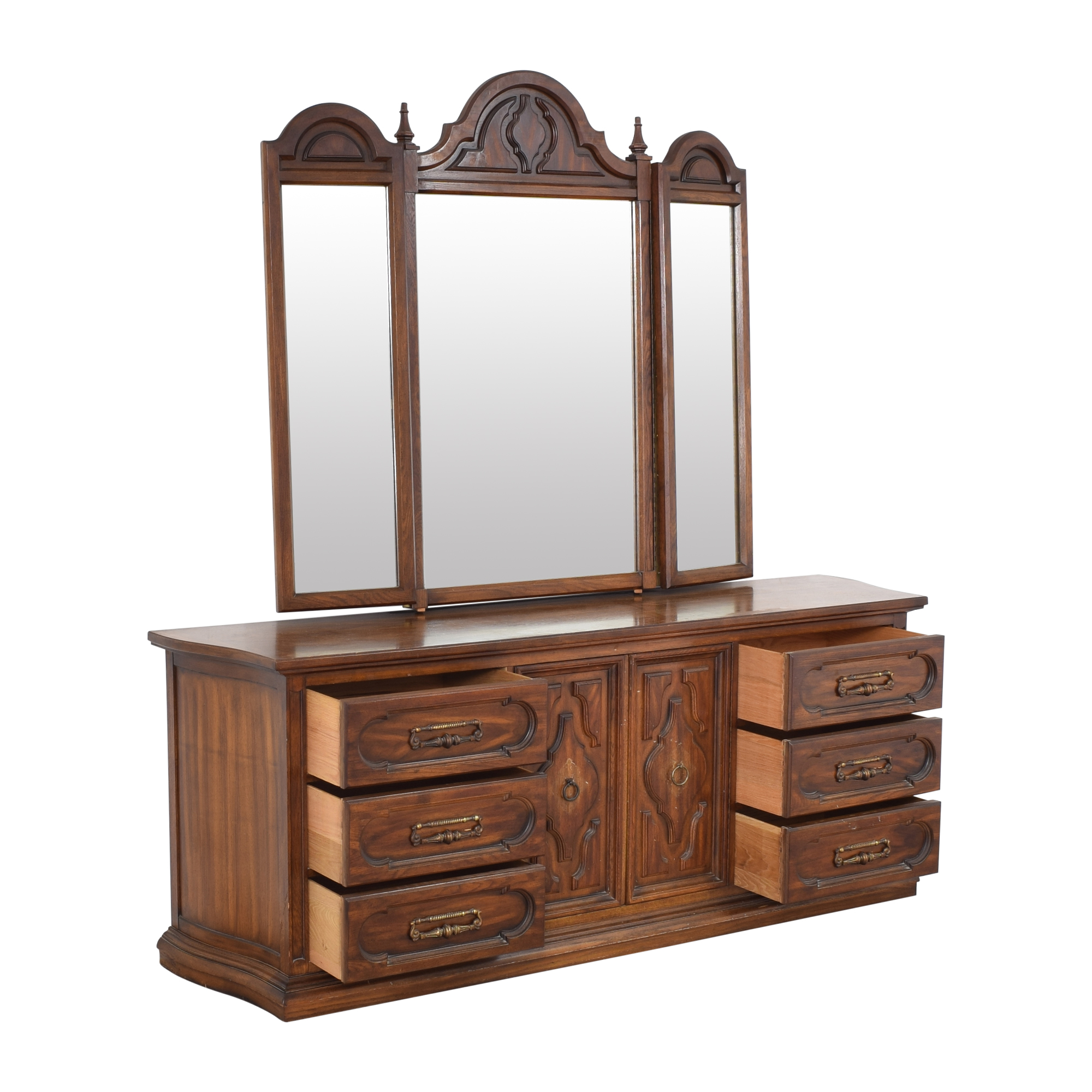 Vintage Triple Dresser with Trifold Mirror price