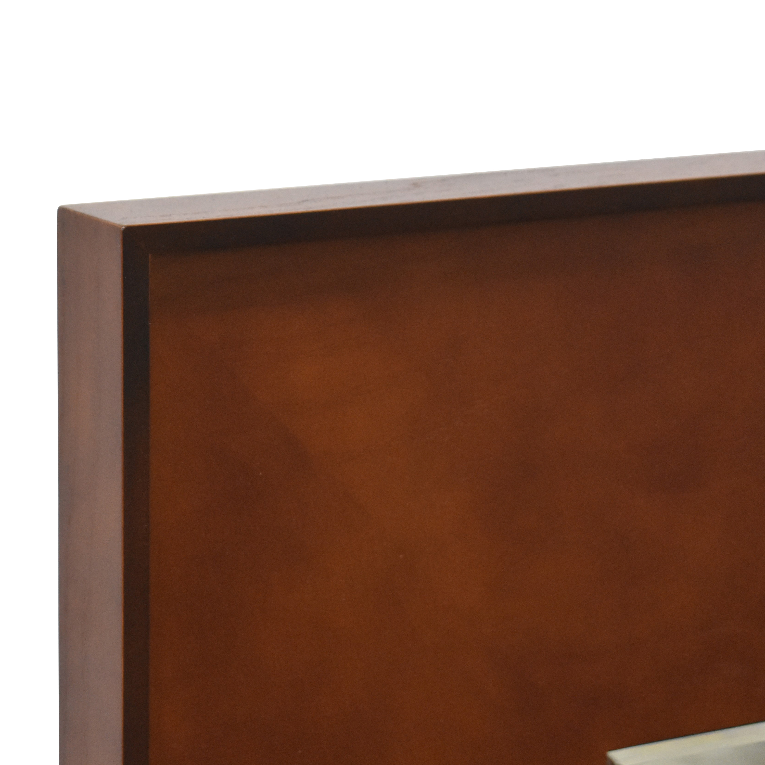 CB2 CB2 Rectangle Olive Wood Mirror brown