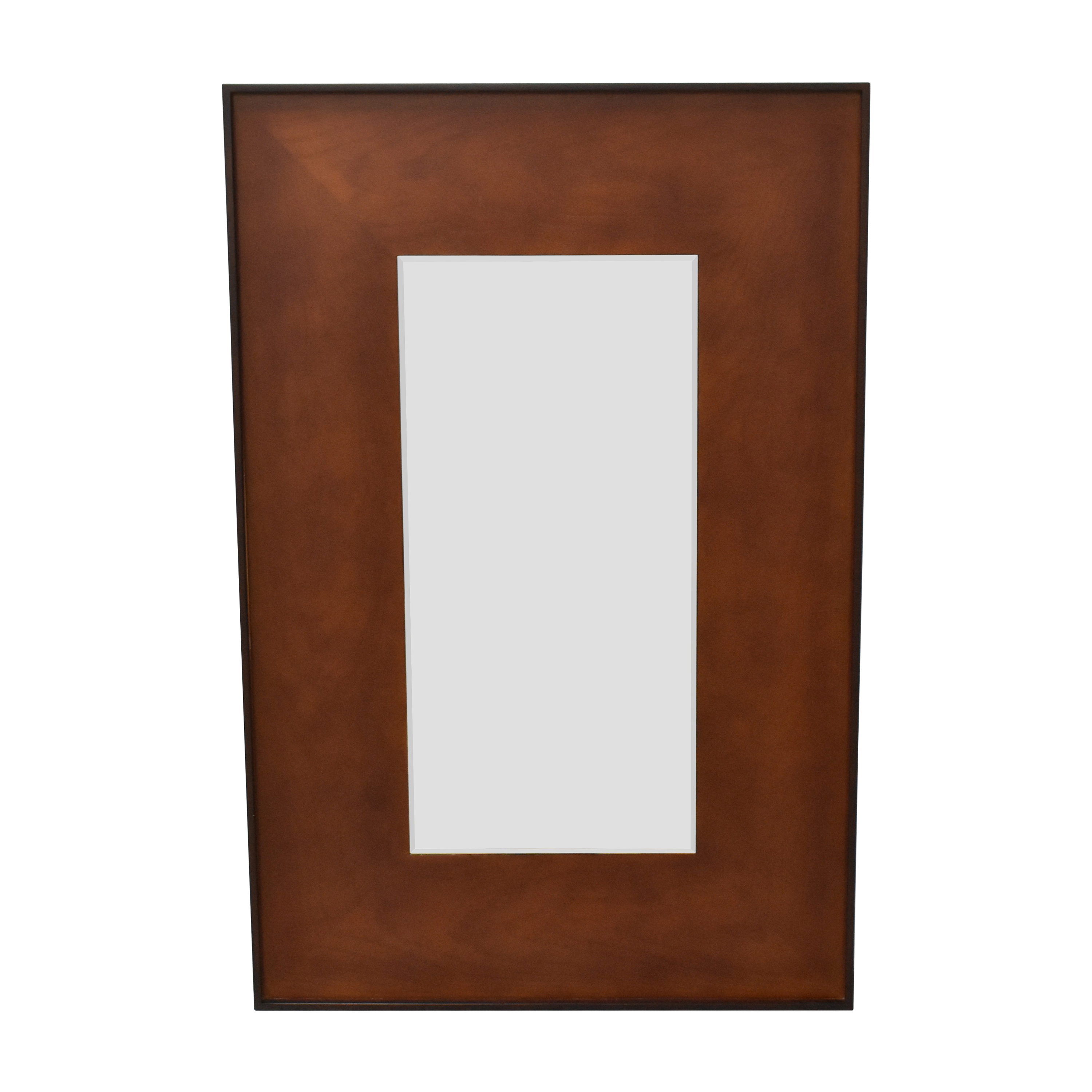 CB2 Rectangle Olive Wood Mirror sale