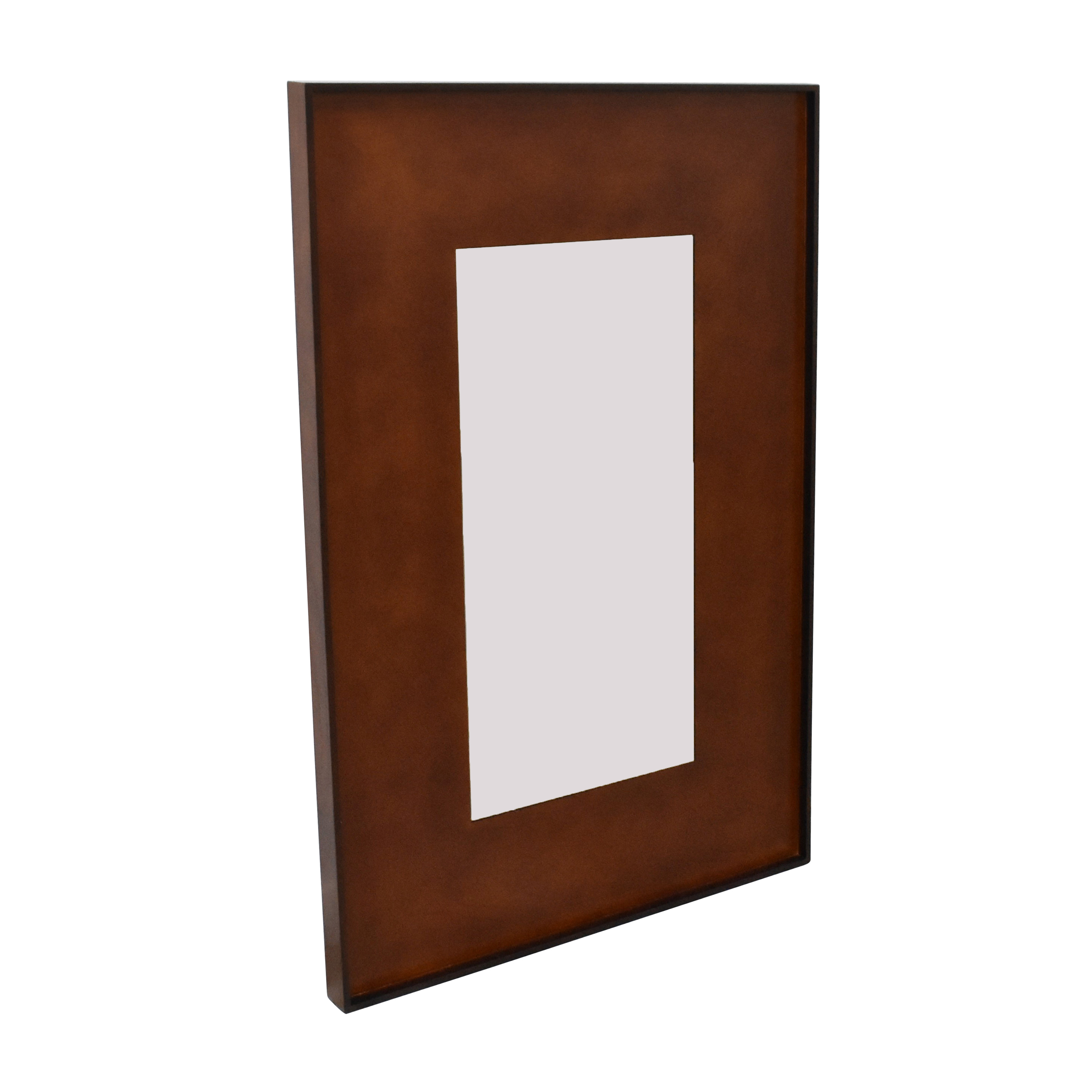 CB2 CB2 Rectangle Olive Wood Mirror used