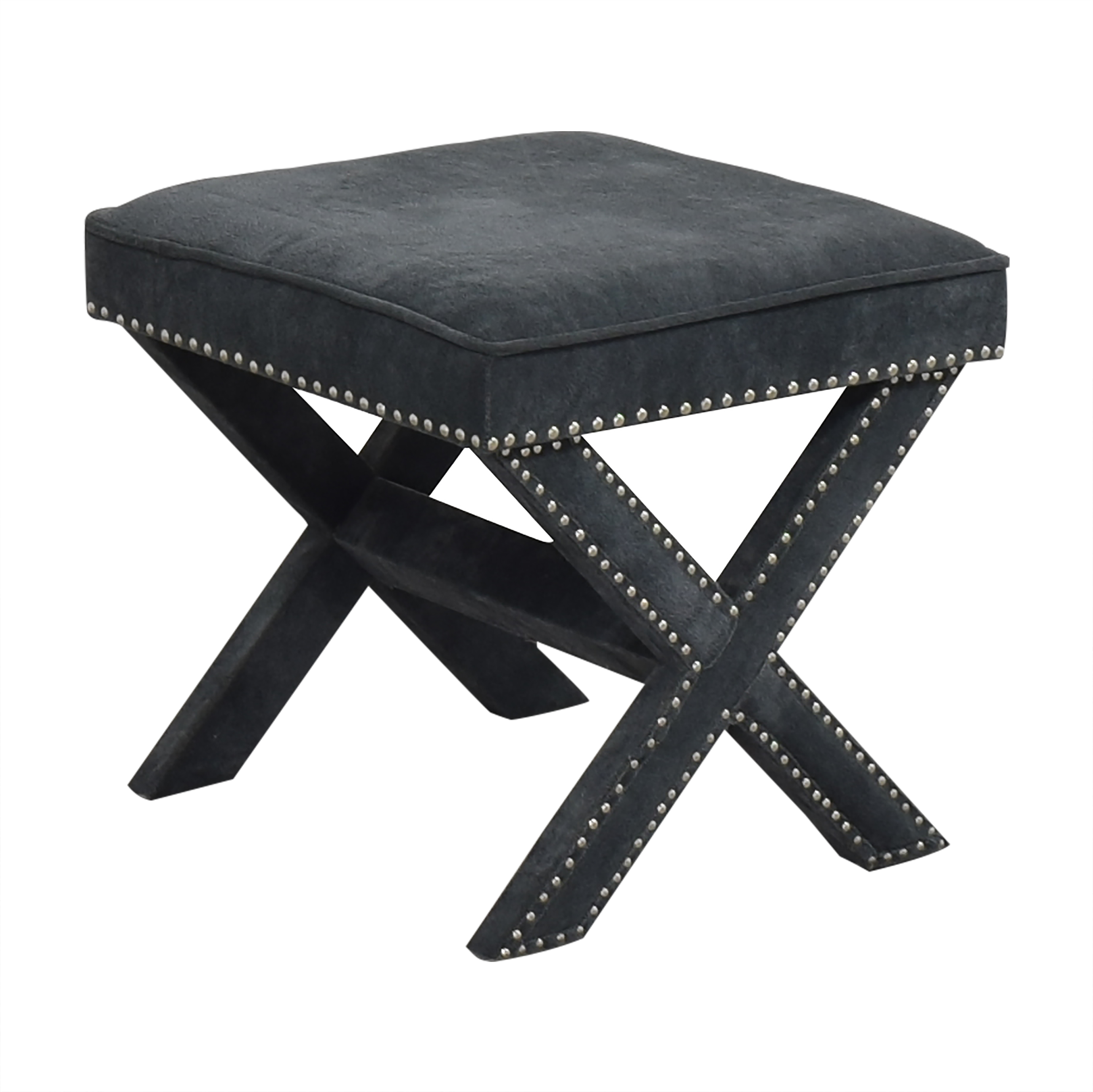 Studded X Bench Ottoman dimensions