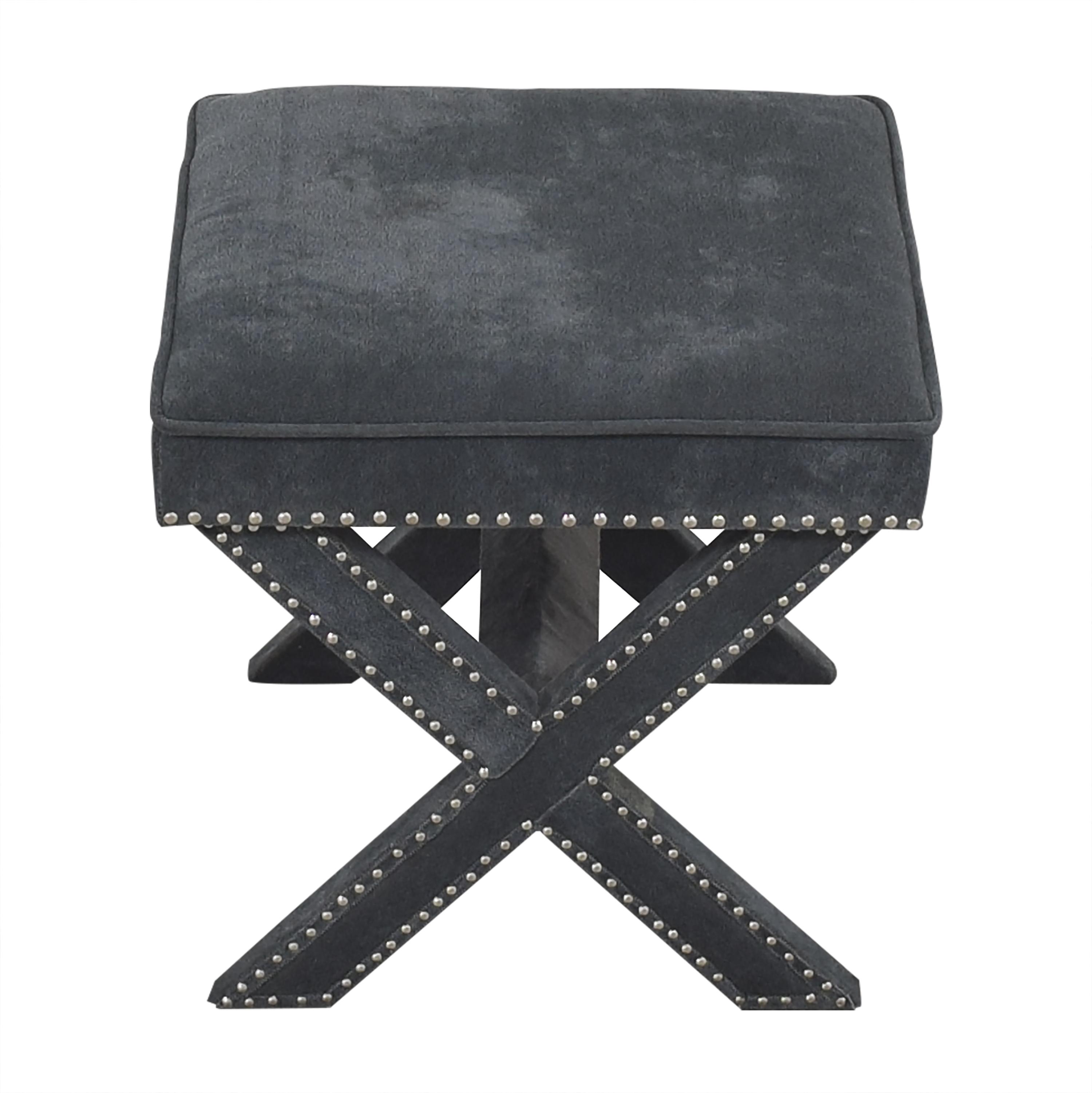 Studded X Bench Ottoman