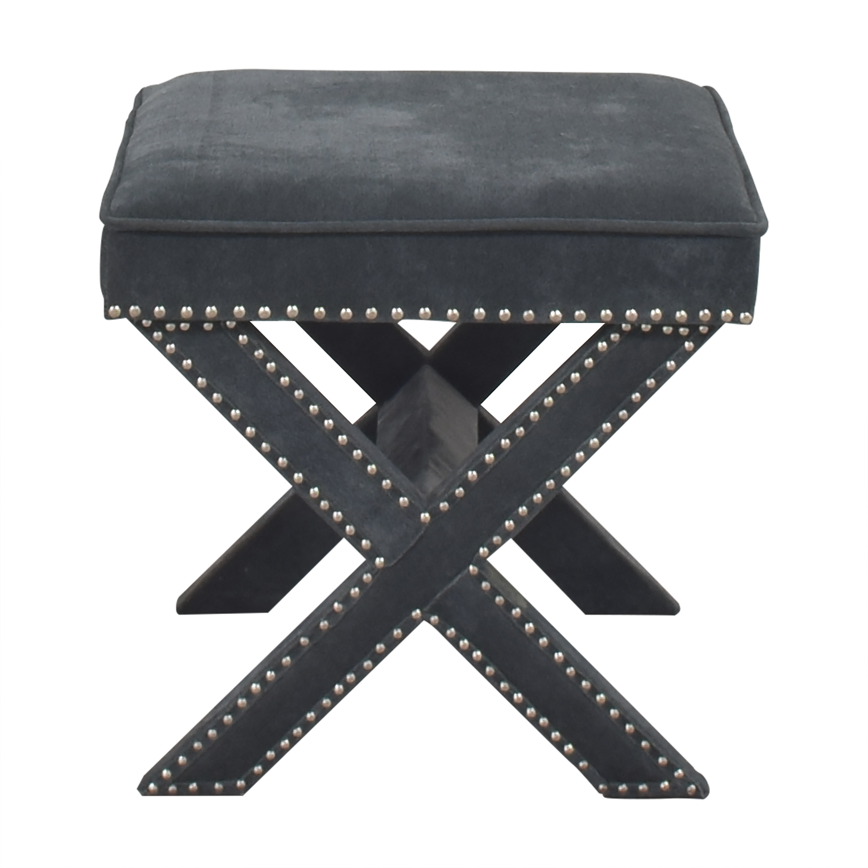 buy Studded X Bench Ottoman  Chairs