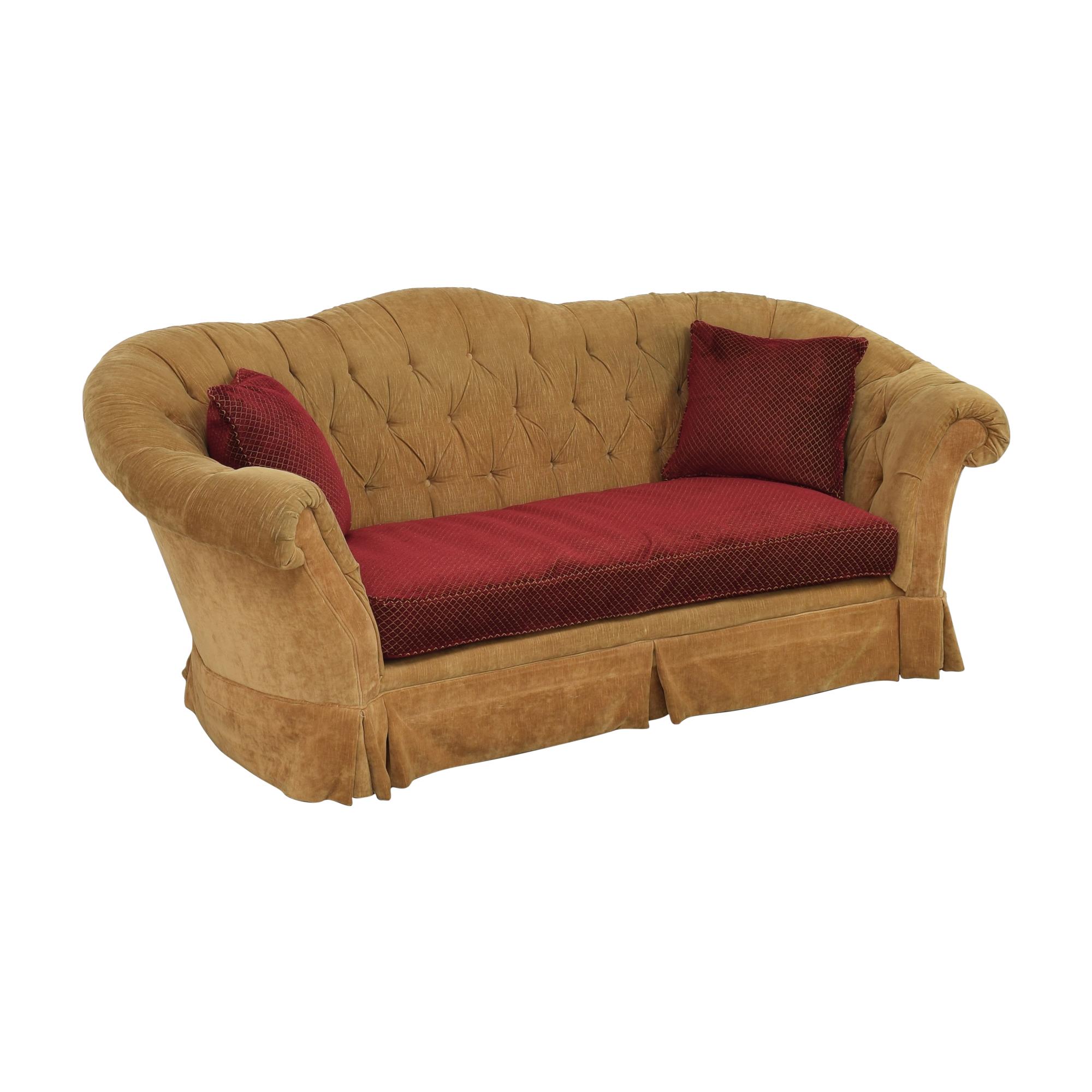Domain Home Domain Home Two Tone Curve Tufted Sofa used