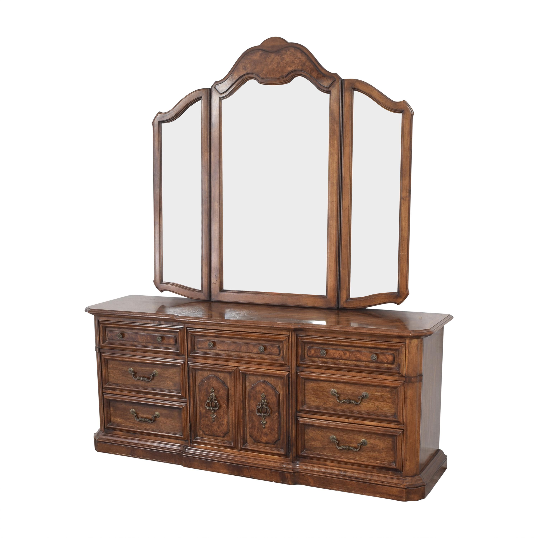 Stanley Furniture Stanley Furniture Triple Dresser with Mirror nj