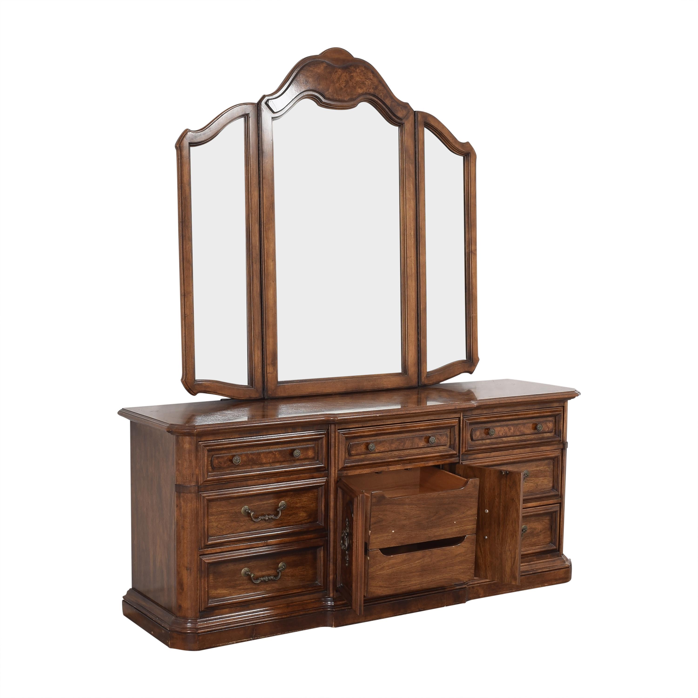 Stanley Furniture Stanley Furniture Triple Dresser with Mirror pa