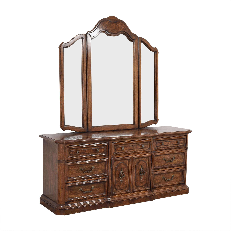 Stanley Furniture Stanley Furniture Triple Dresser with Mirror brown