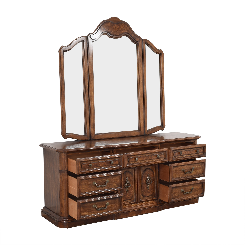 buy Stanley Furniture Triple Dresser with Mirror Stanley Furniture