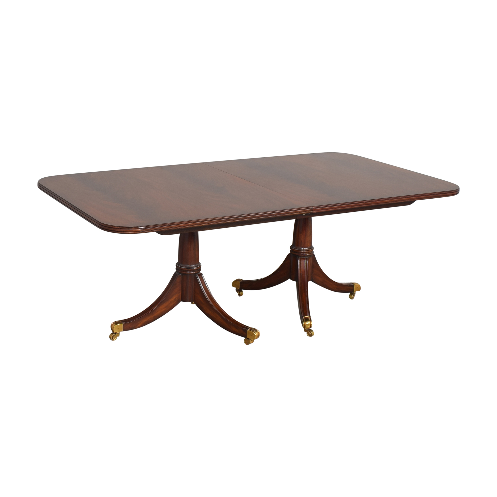 buy Maitland-Smith Double Pedestal Extendable Dining Table Maitland-Smith