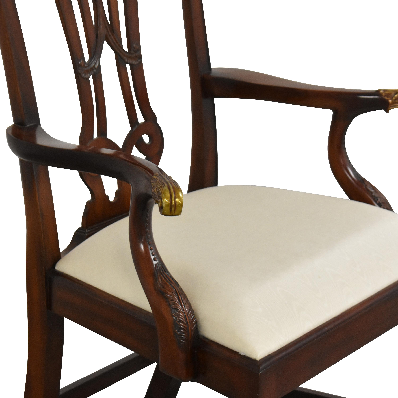 Maitland-Smith Maitland-Smith Carved Arm Chair nj