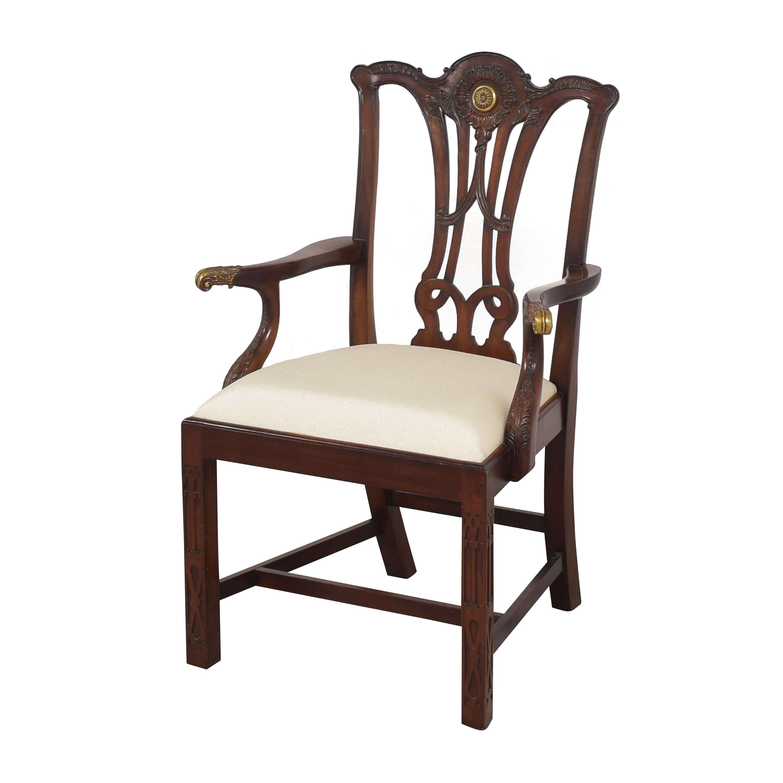 Maitland-Smith Maitland-Smith Carved Arm Chair ct