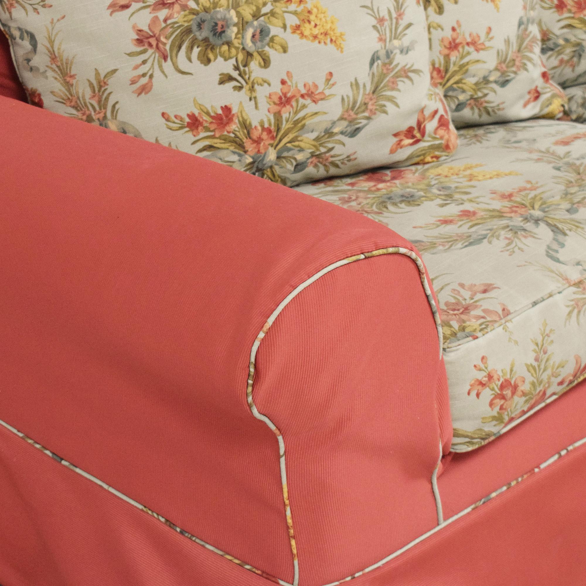 Ethan Allen Ethan Allen Slipcovered Sofa multi