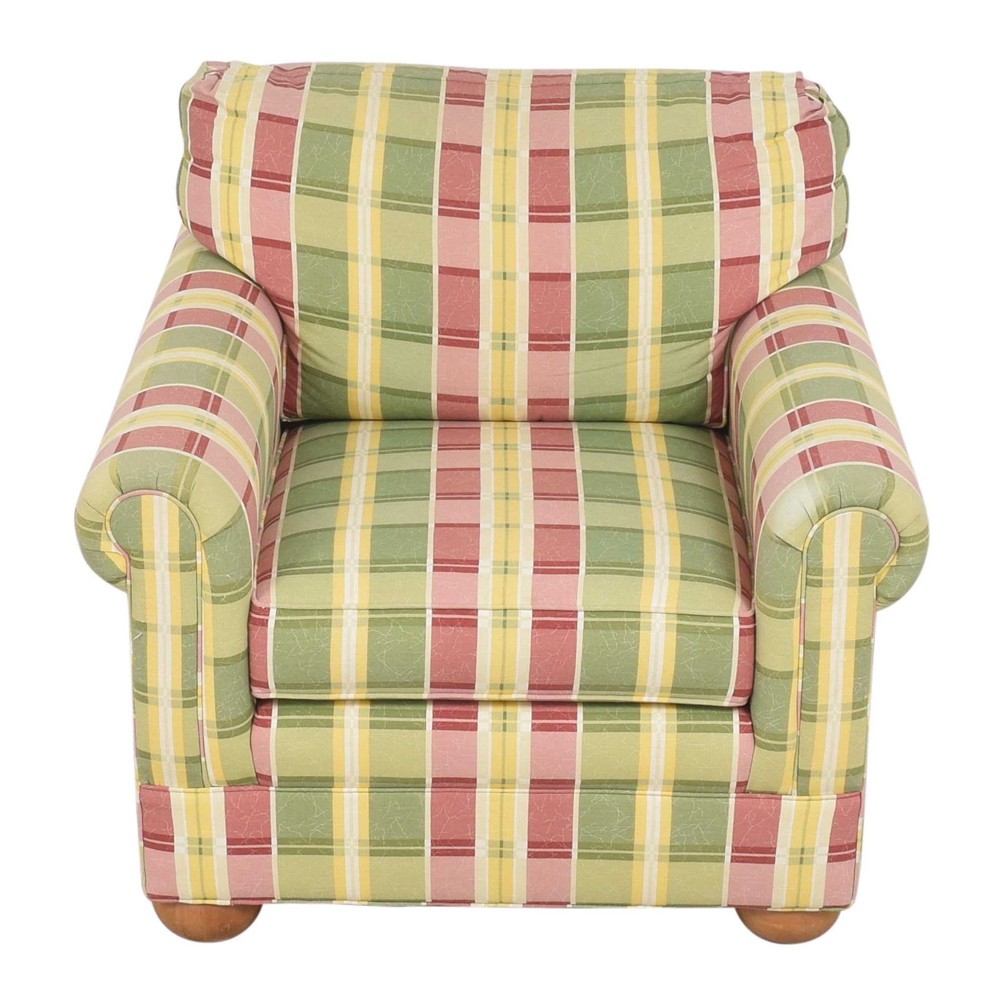 shop Ethan Allen Plaid Club Chair Ethan Allen Chairs