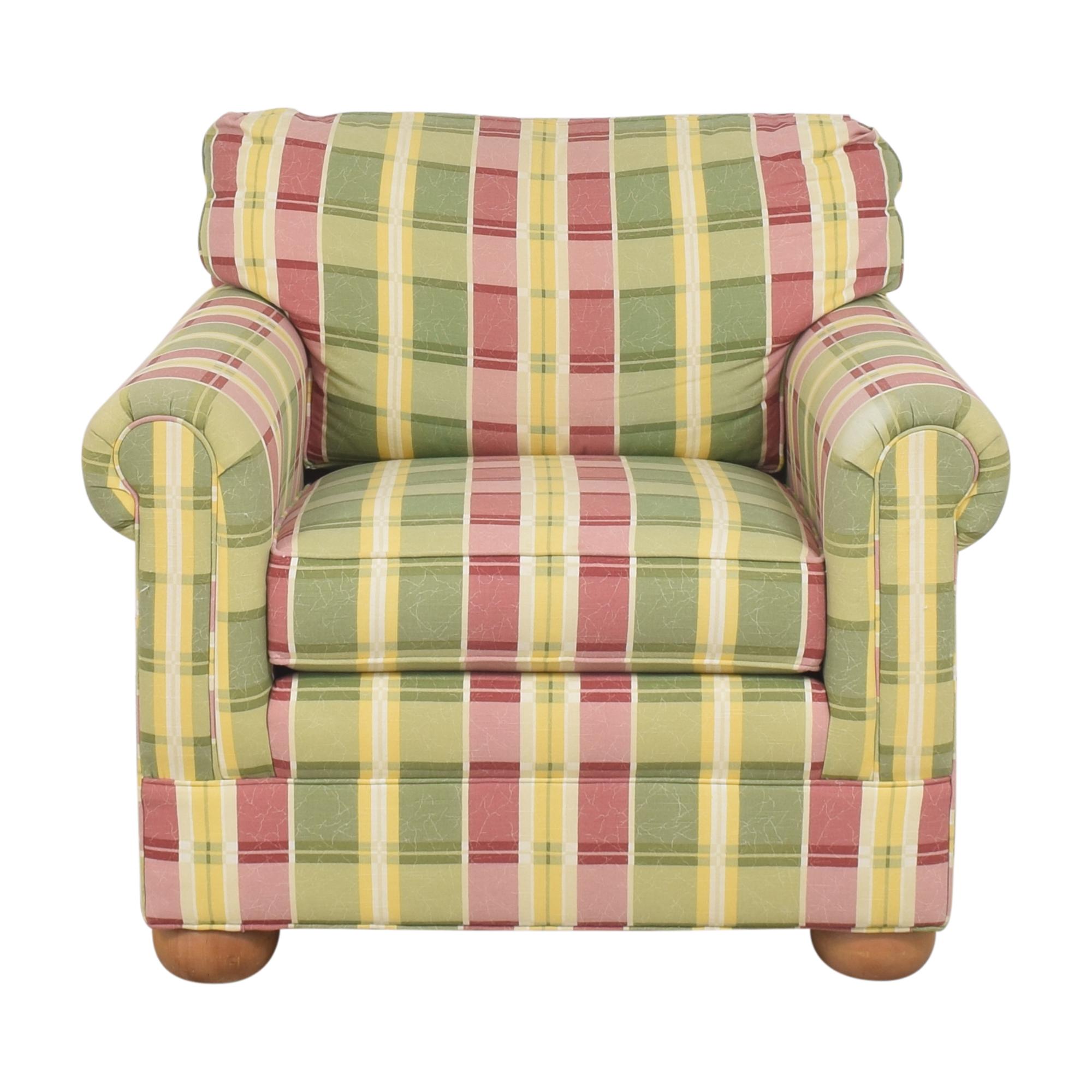 Ethan Allen Ethan Allen Plaid Club Chair discount