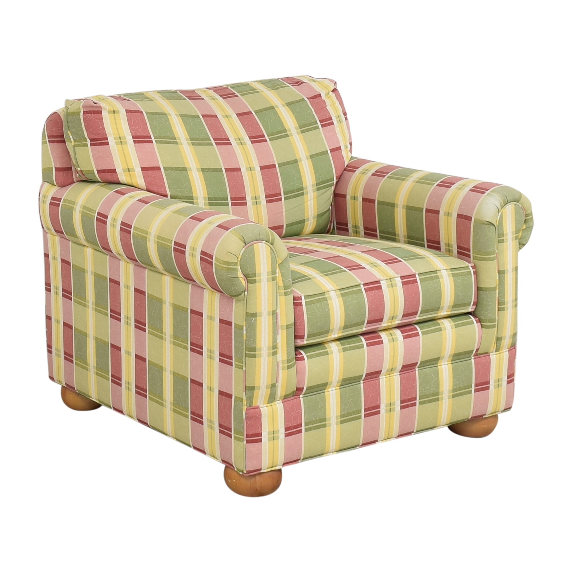Ethan Allen Ethan Allen Plaid Club Chair used