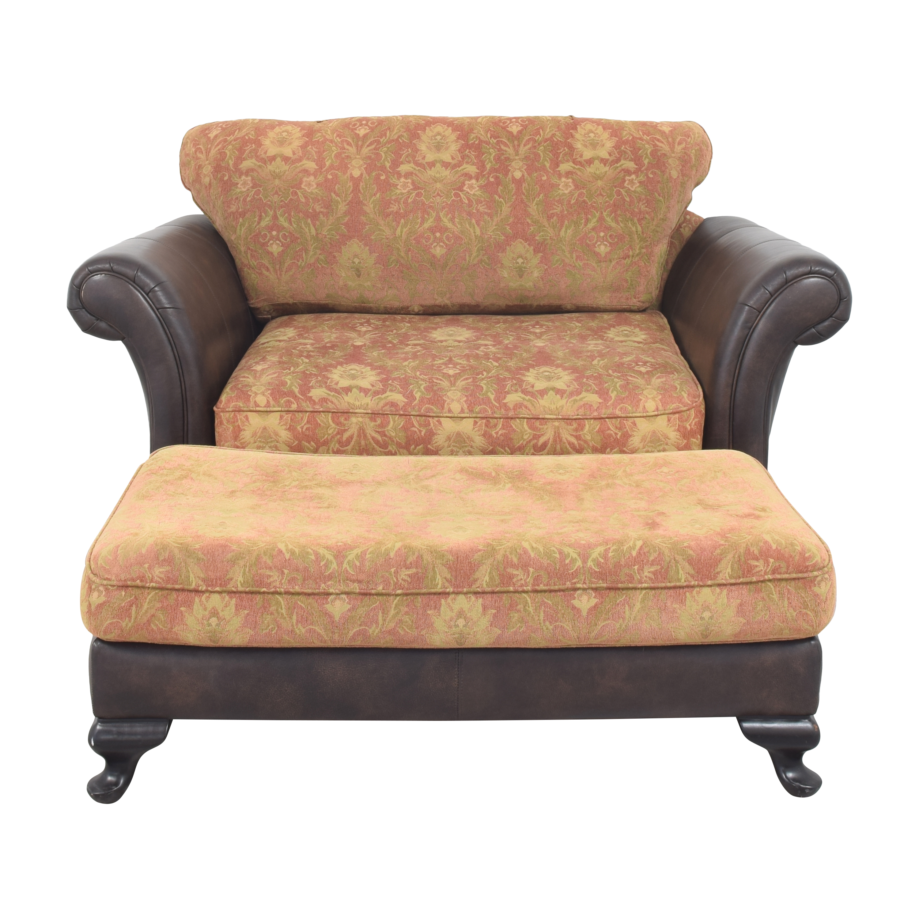 Bernhardt Bernhardt Henri Chair and a Half with Ottoman on sale