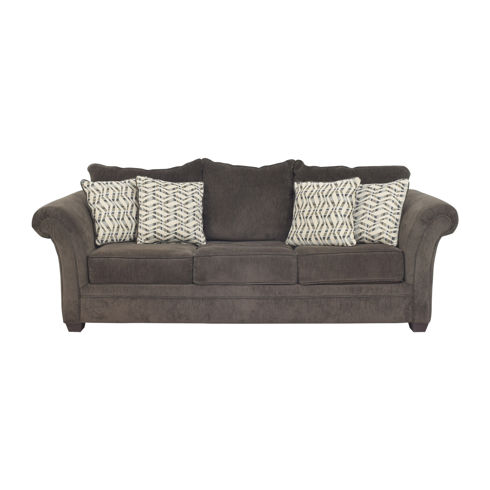 Hughes Furniture Roll Arm Sleeper Sofa / Sofas