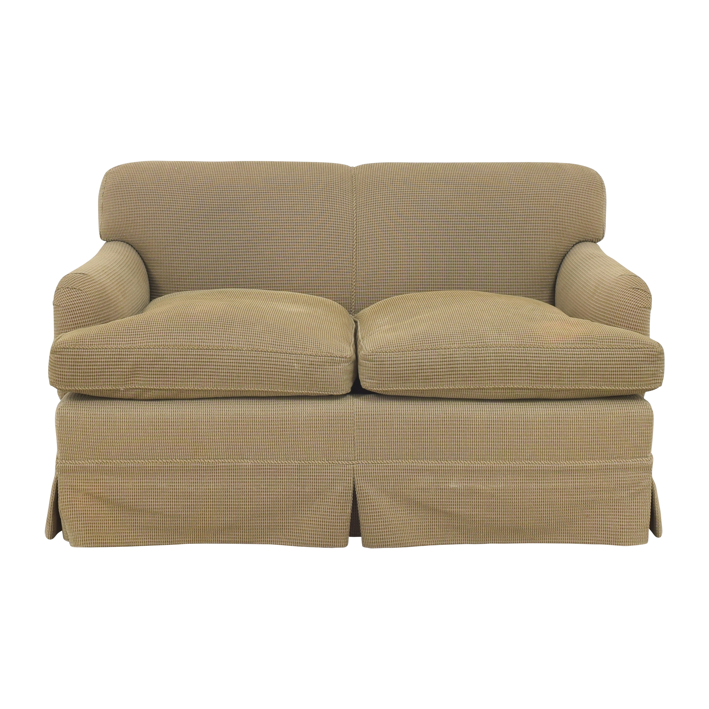 Roll Arm Skirted Loveseat nj