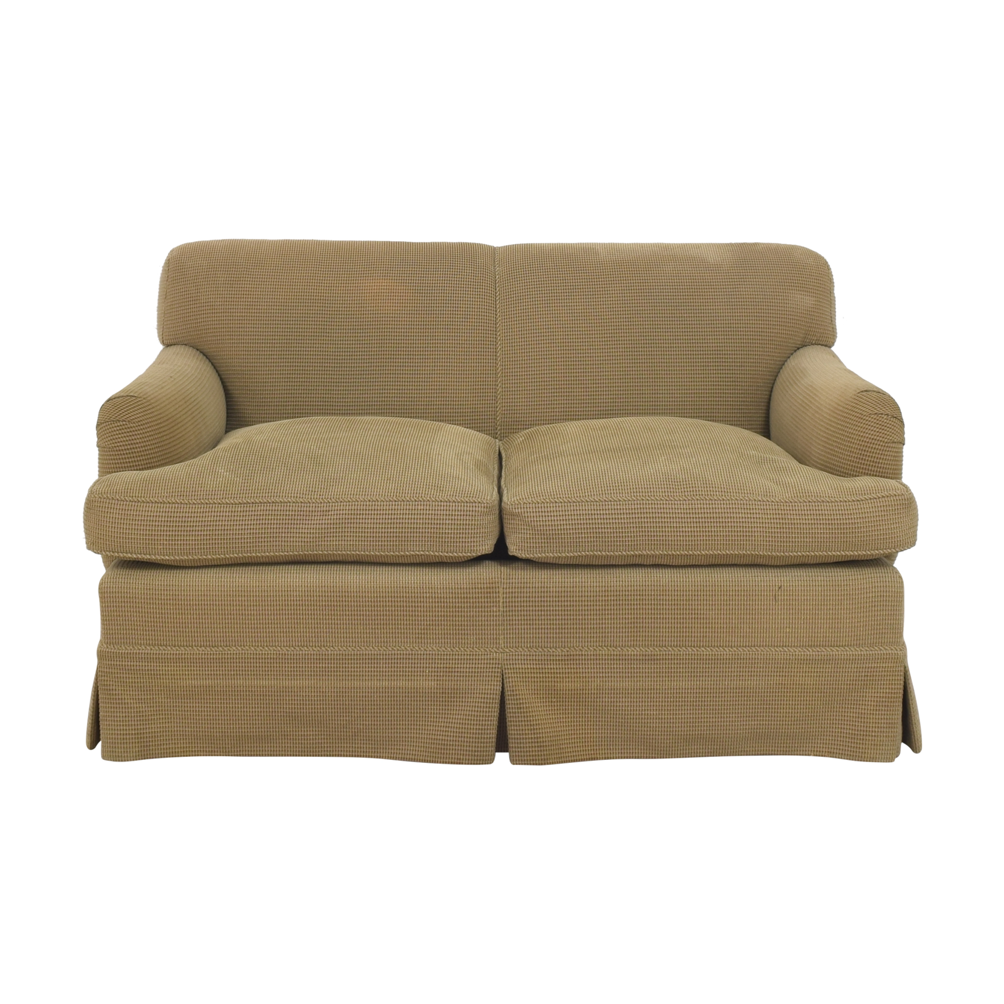 Custom Two Cushion Sofa tan