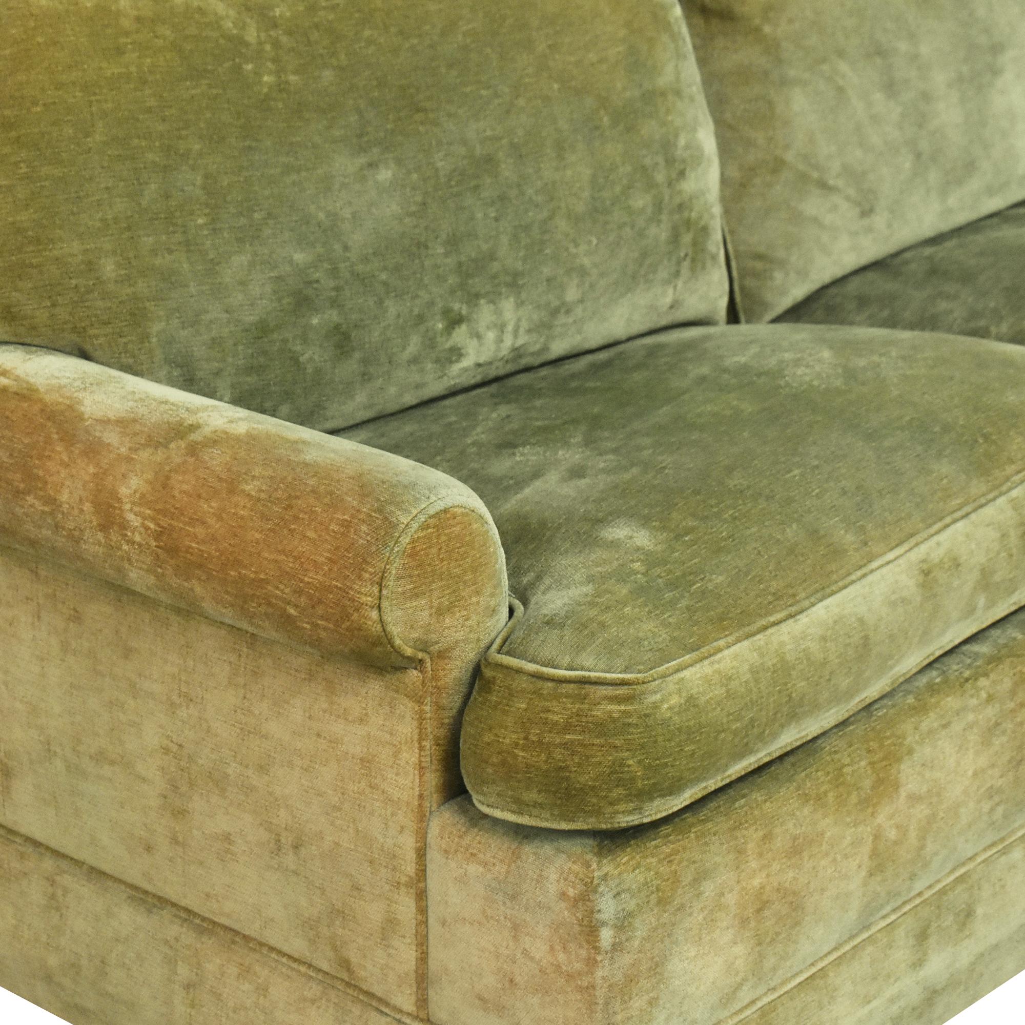 buy Hickory Springs Two Cushion Sleeper Sofa Hickory Springs