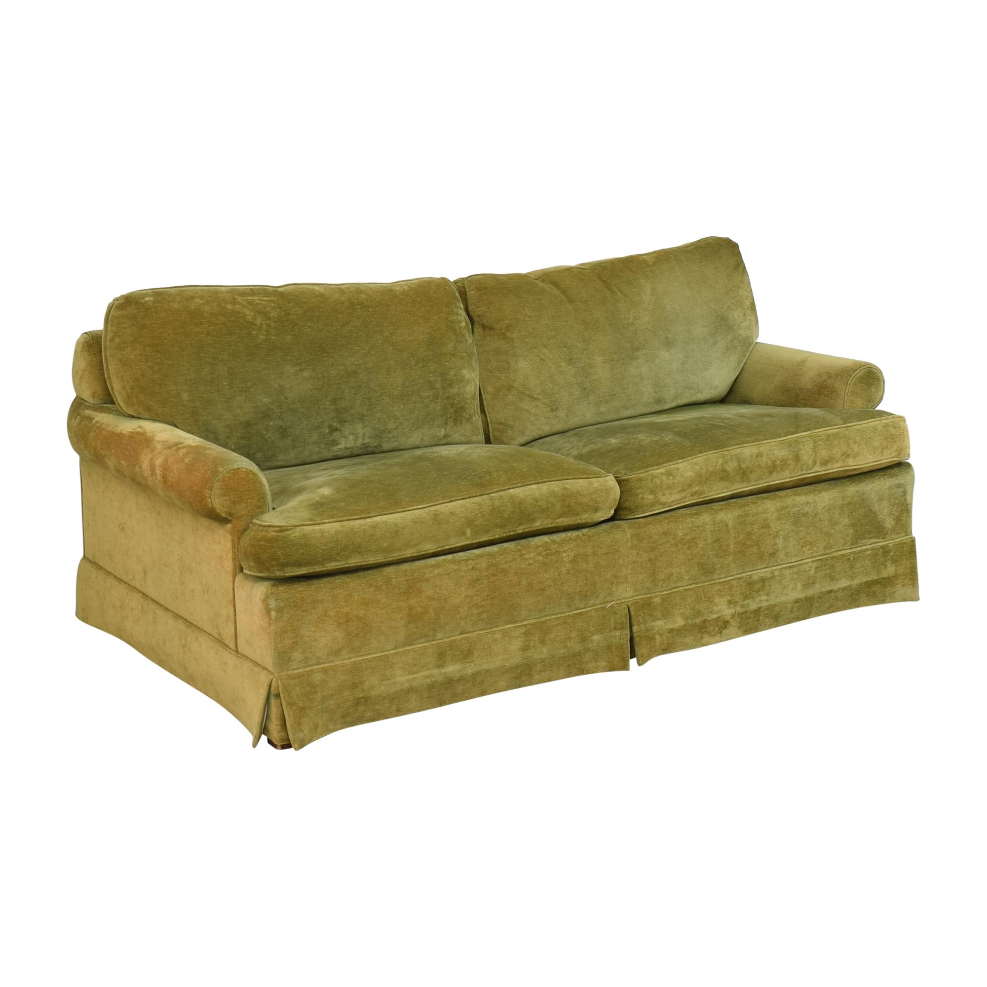 Hickory Springs Hickory Springs Two Cushion Sleeper Sofa green