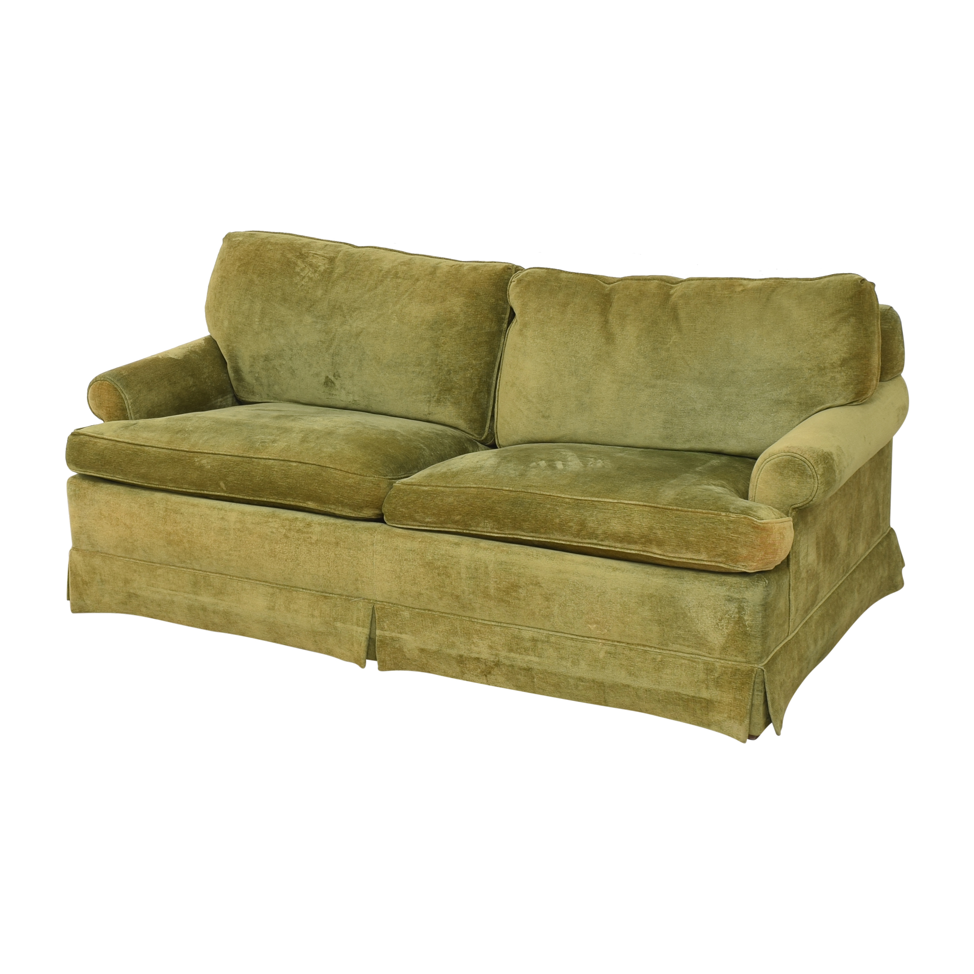 shop Hickory Springs Two Cushion Sleeper Sofa Hickory Springs