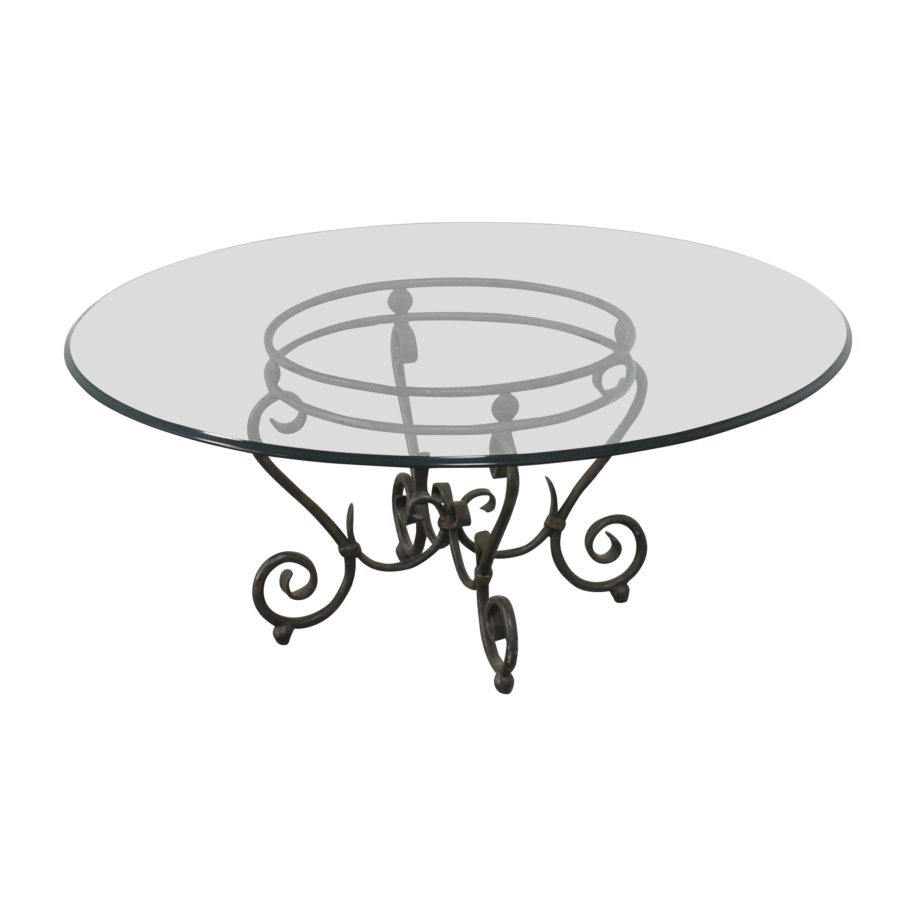 buy  Transparent Coffee Table with Decorative Base online