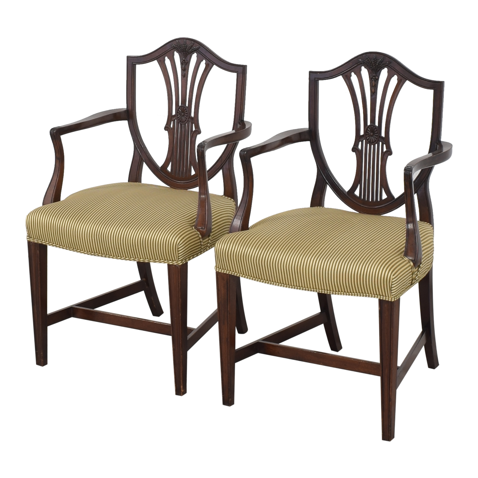 Shield Back Dining Arm Chairs ma