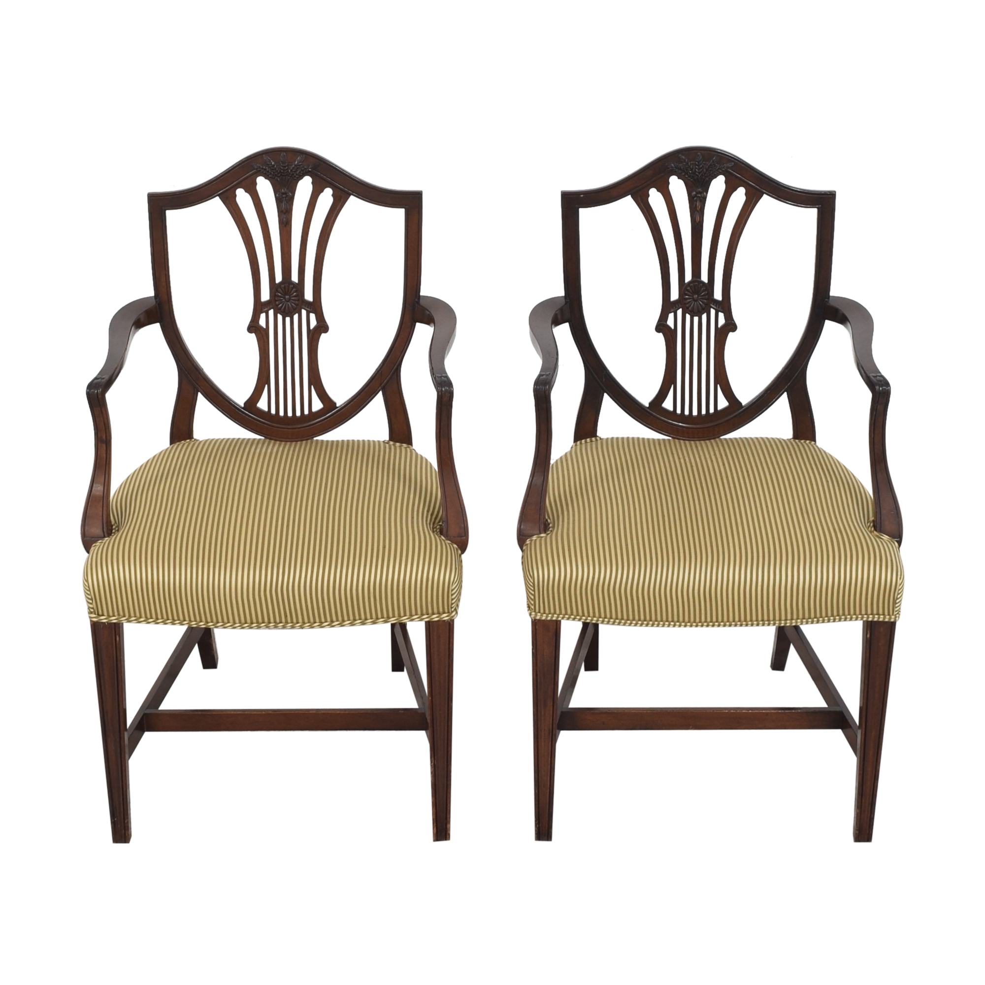 Shield Back Dining Arm Chairs / Dining Chairs