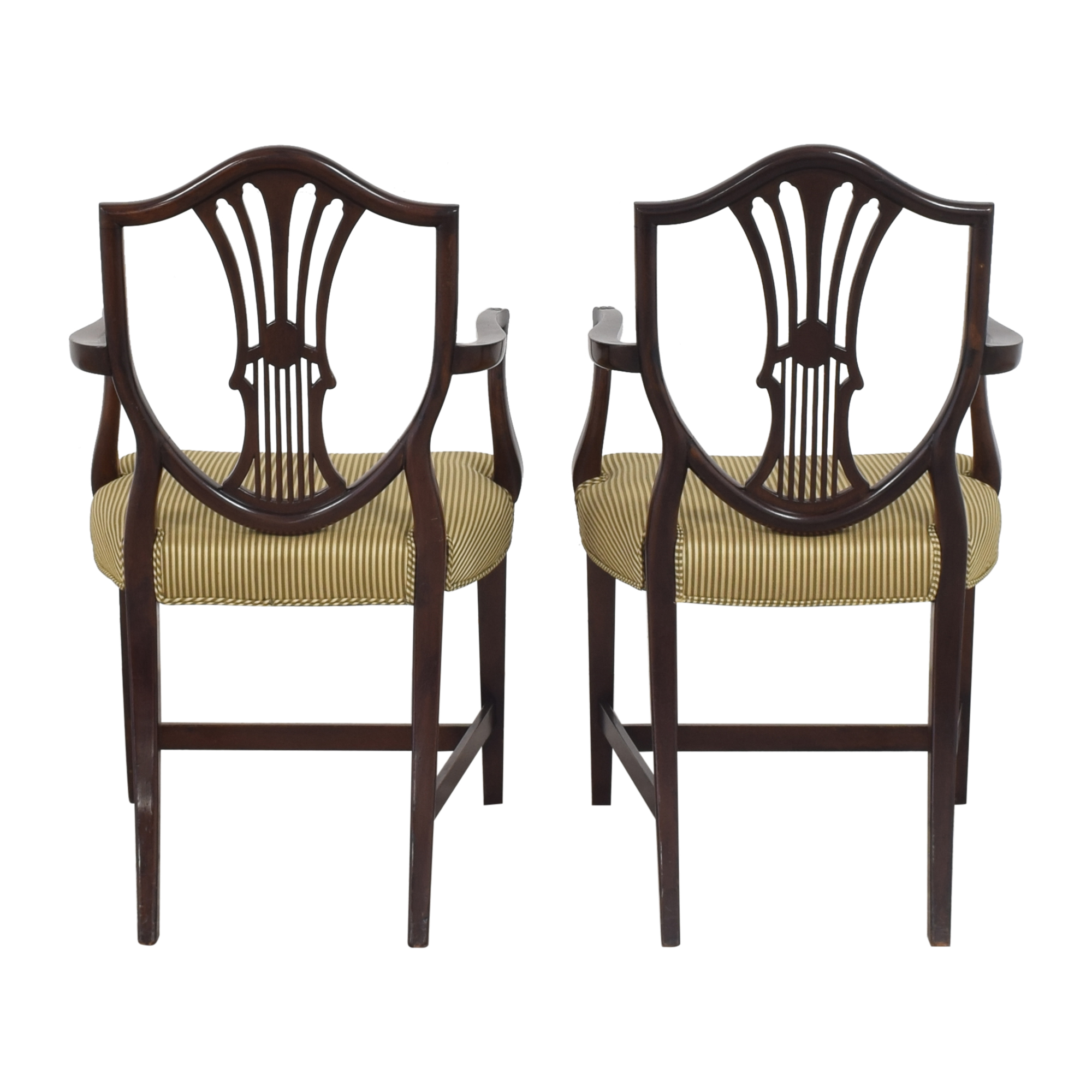 Shield Back Dining Arm Chairs second hand