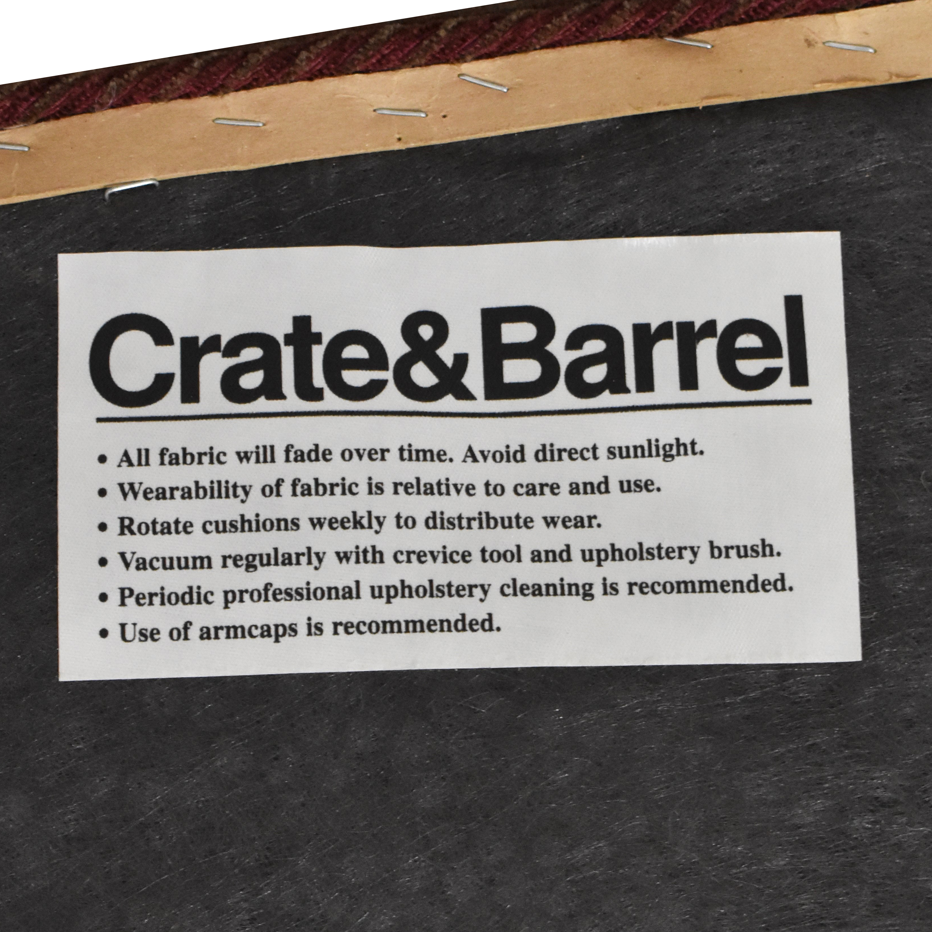 buy Crate & Barrel Upholstered Arm Chair Crate & Barrel Accent Chairs