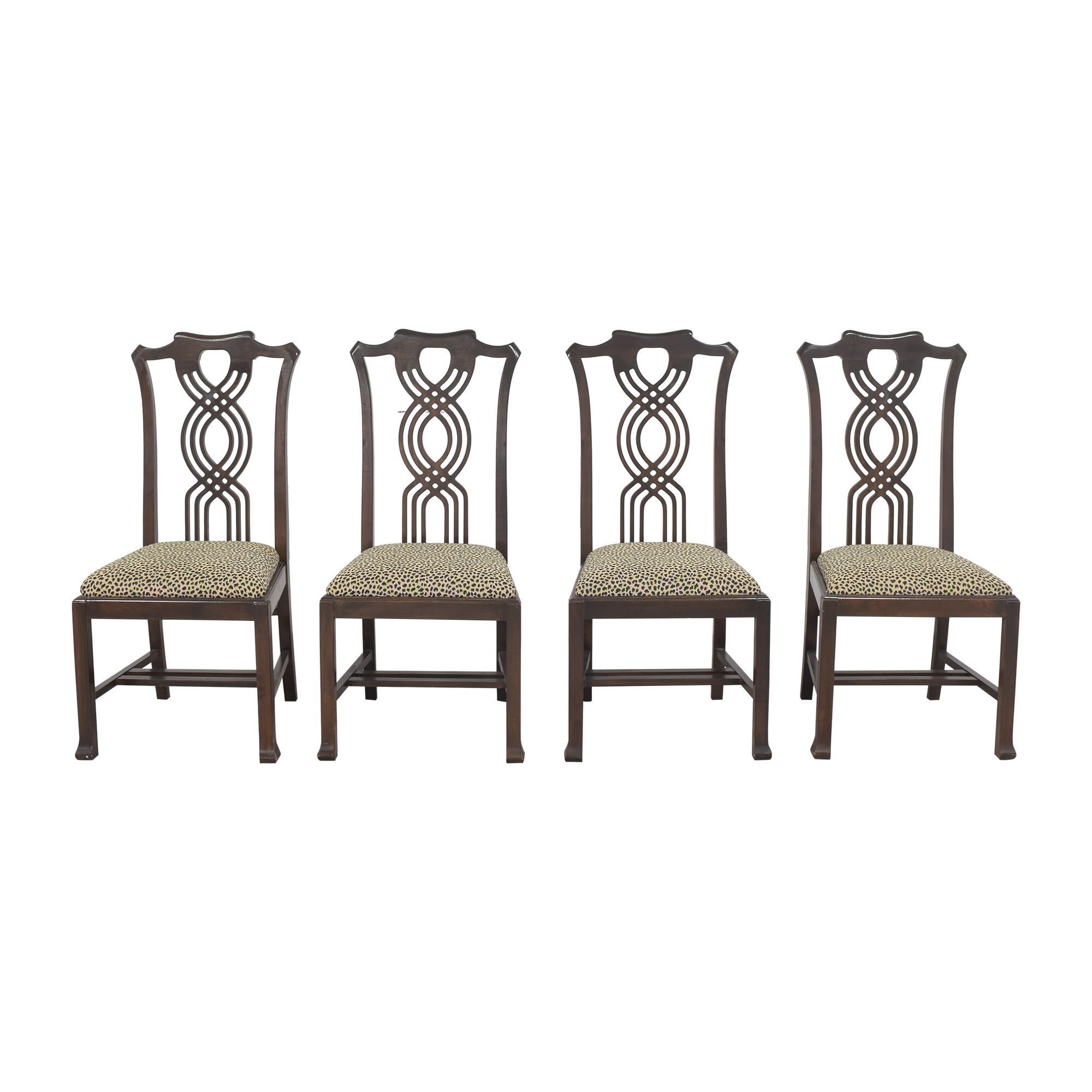 Animal Print Upholstered Dining Chairs Dining Chairs