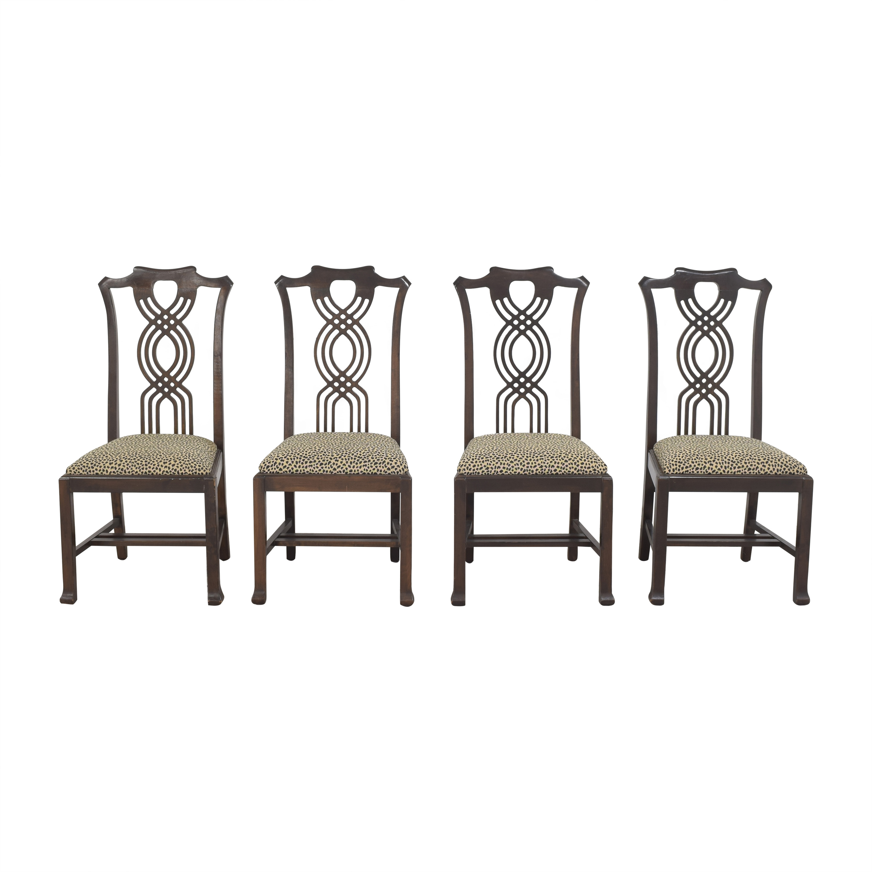 Animal Print Upholstered Dining Chairs ct